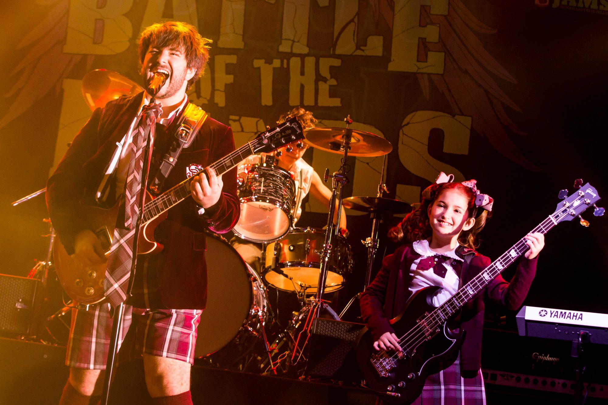 School of Rock ñ The MusicalAlex Brightman, Dante Melucci, and Evie Dolan