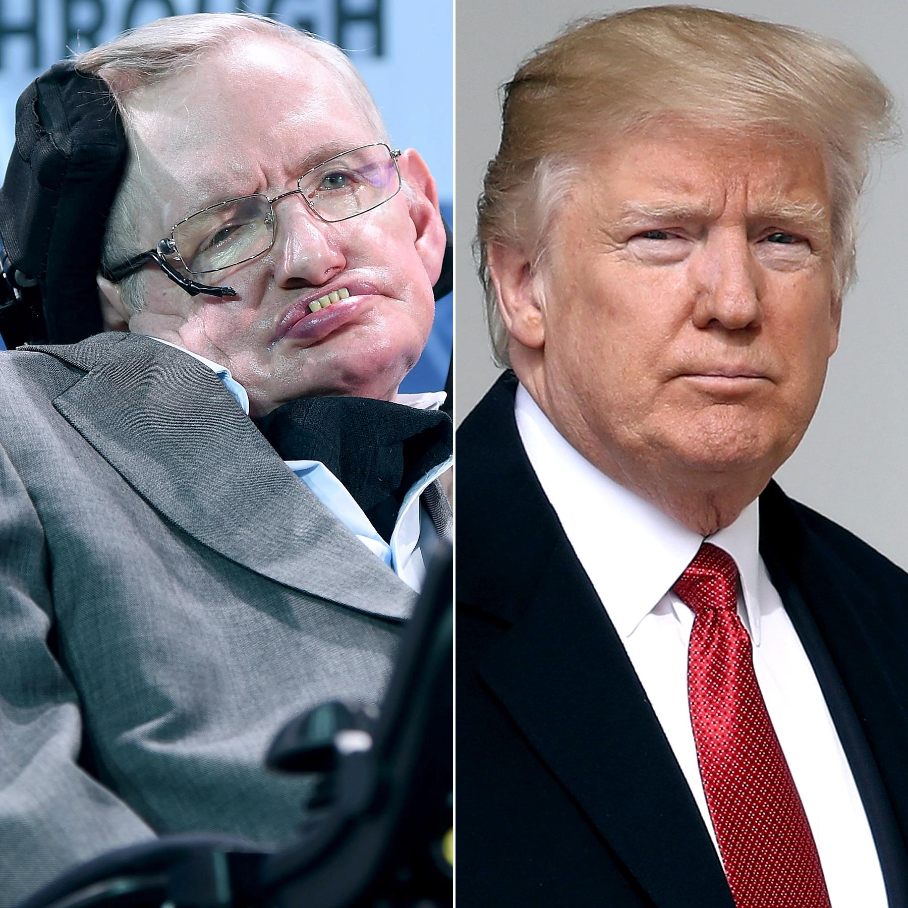 Stephen Hawking and Donald Trump