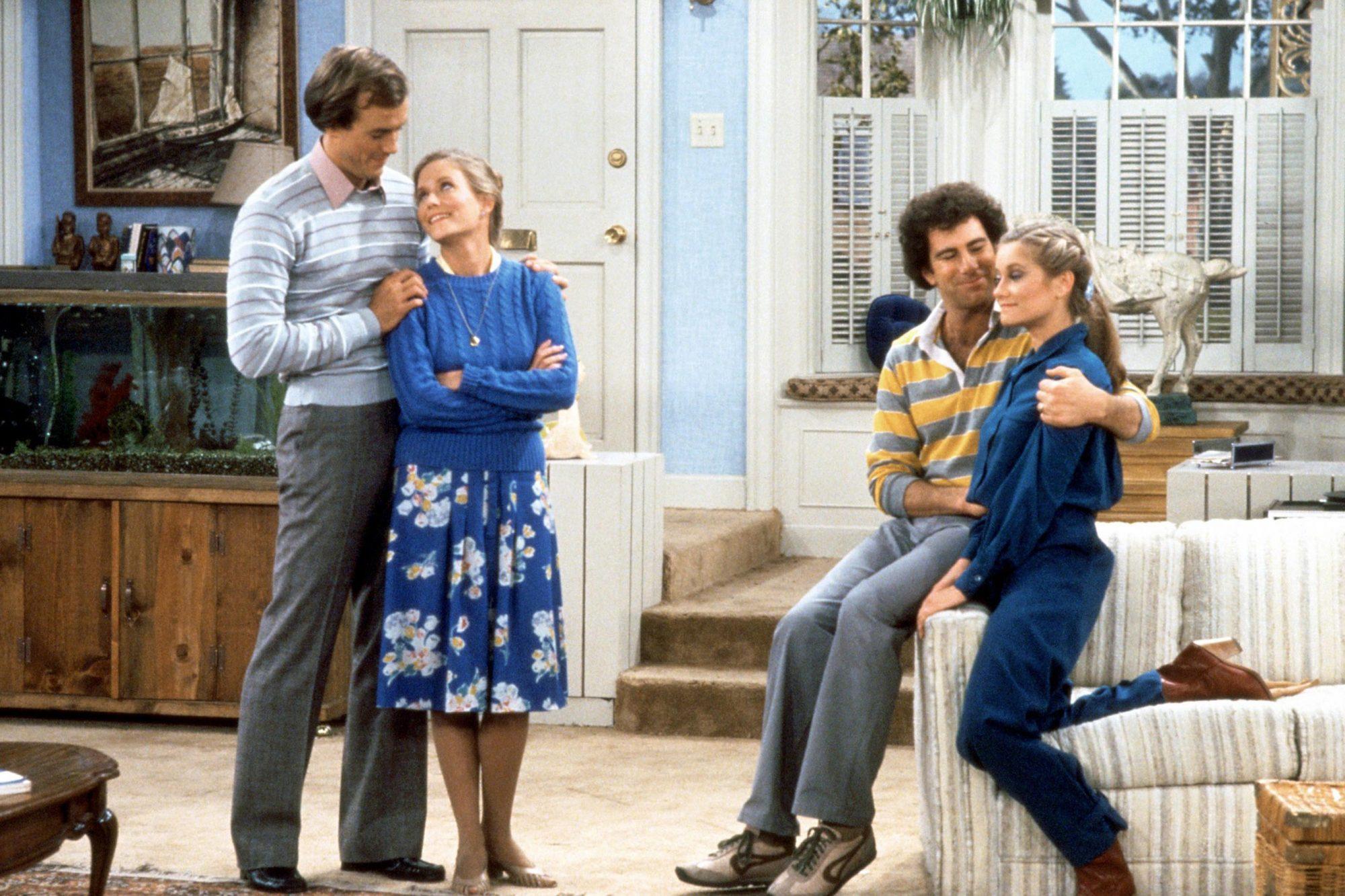THE BRADY BRIDES, Ron Kuhlman, Eve Plumb, Jerry Houser, Maureen McCormick, 1981, (c)Paramount Televi