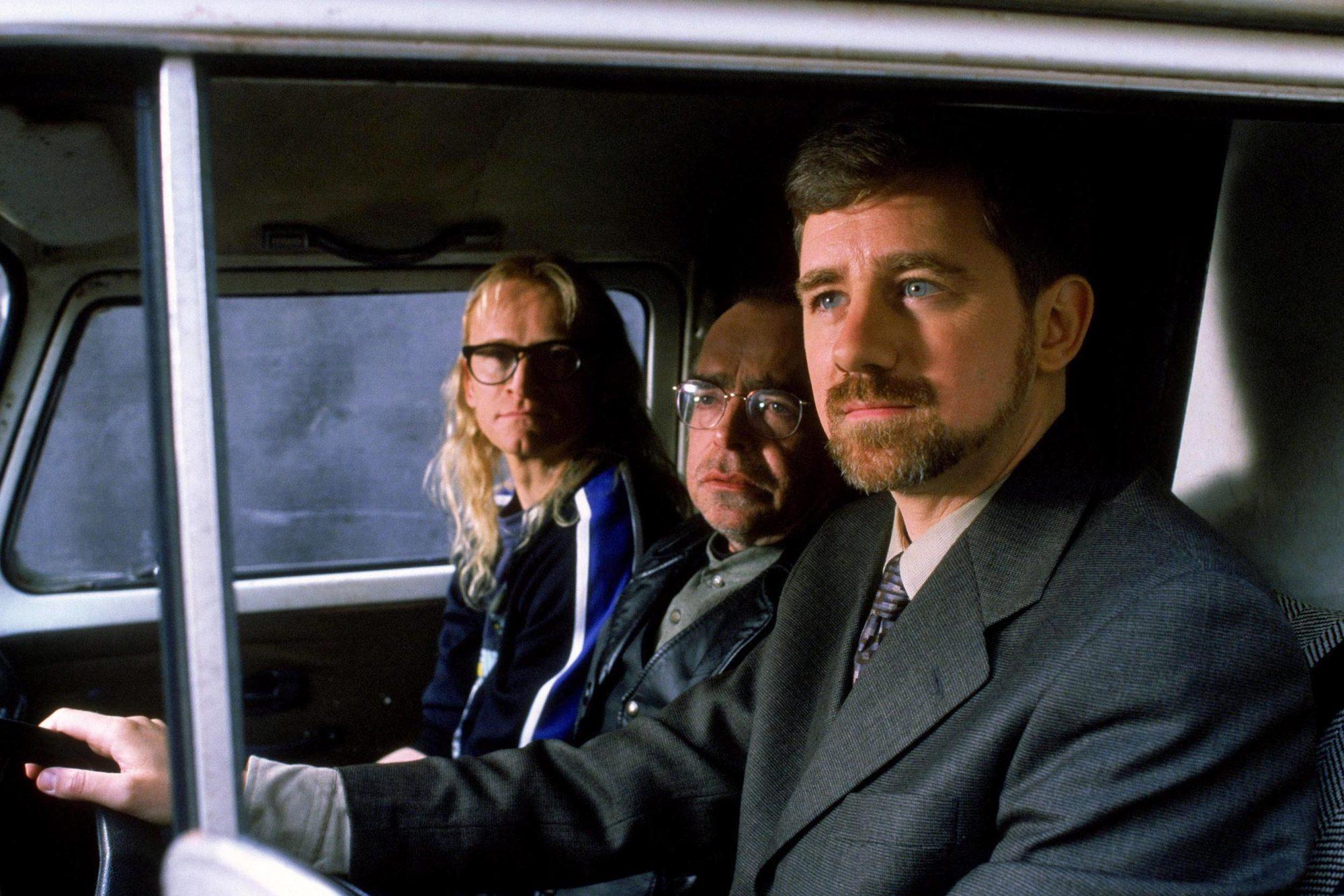 THE LONE GUNMEN, 2001, Dean Haglund, Tom Braidwood, Bruce Harwood, TM and Copyright © 20th Century F