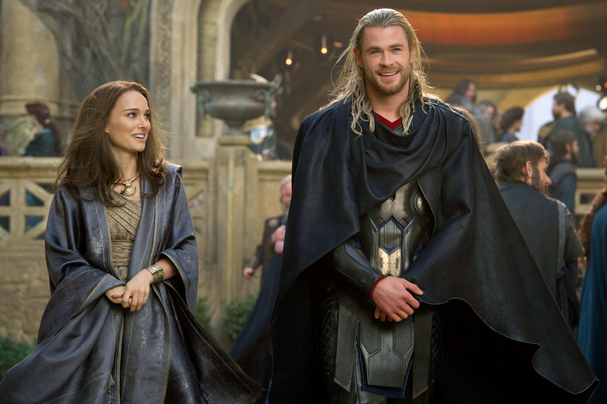 Thor: The Dark World (2013)Natalie Portman and Chris Hemsworth