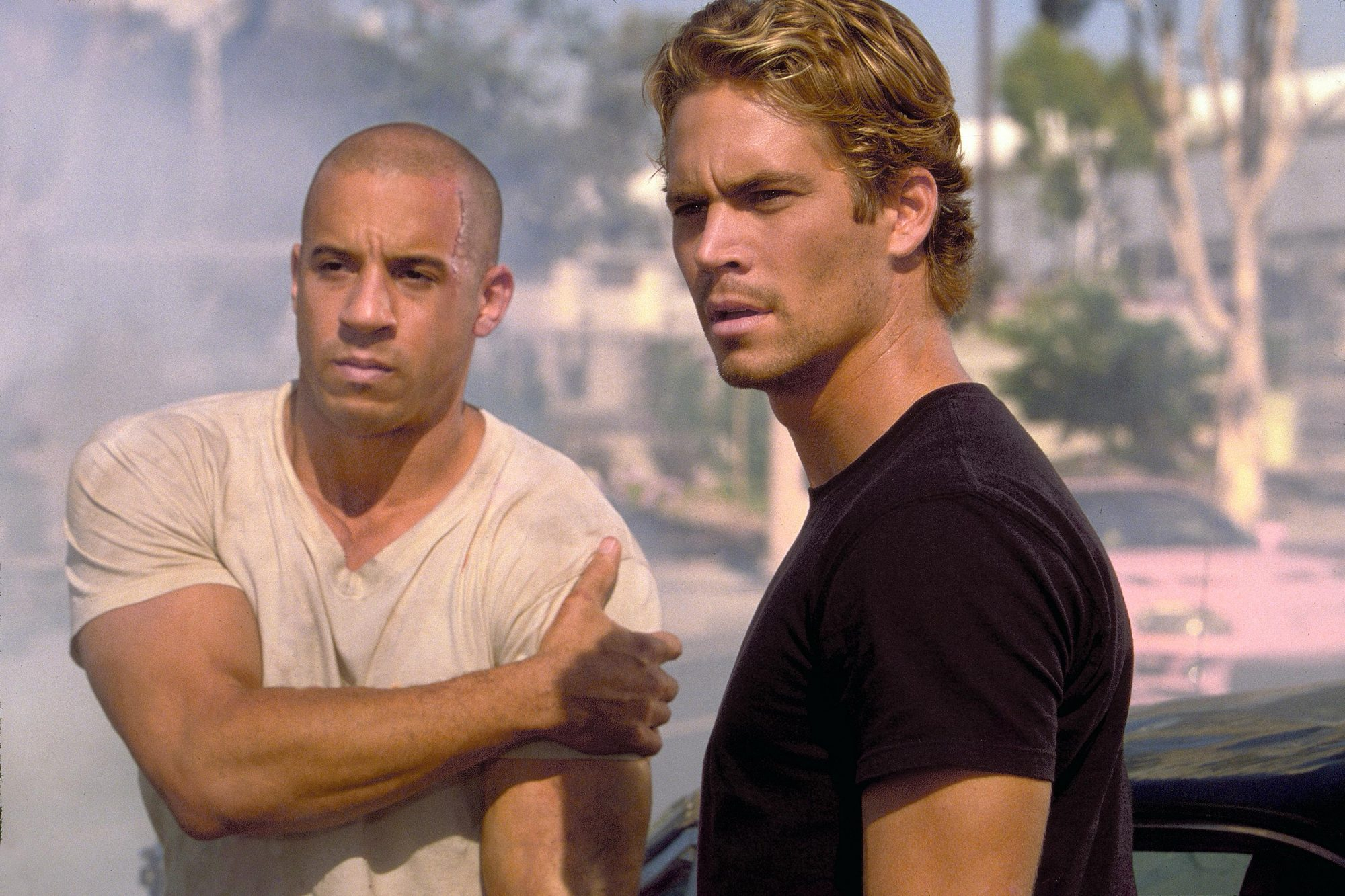 The Fast & The Furious (2001)Vin Diesel (L) and Paul Walker