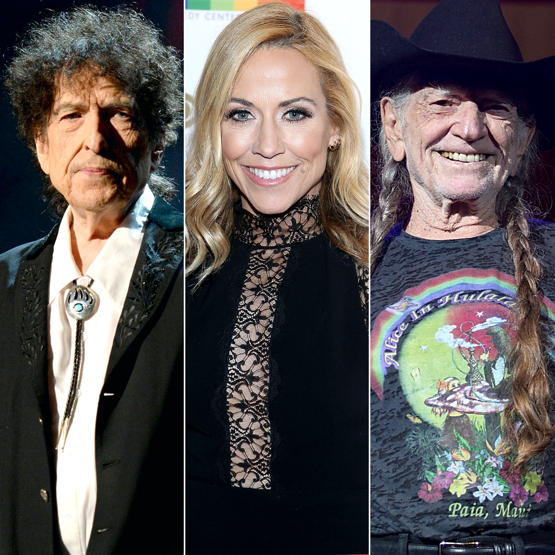 Bob Dylan, Sheryl Crow and Willie Nelson