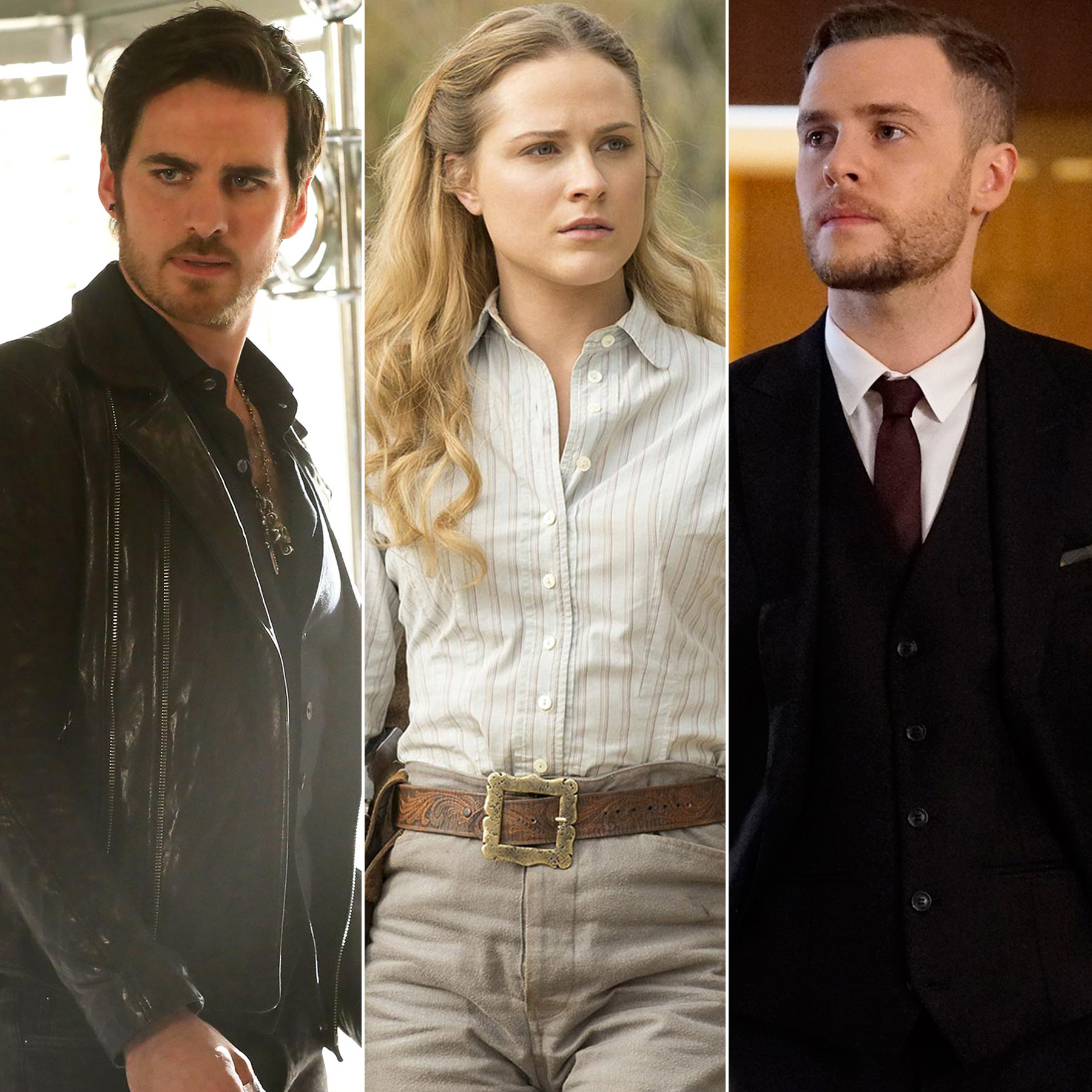 Colin-O'Donoghue on Once Upon a Time, Evan Rachel Wood on Westworld and Ian de Caestecker on Agents of SHIELD
