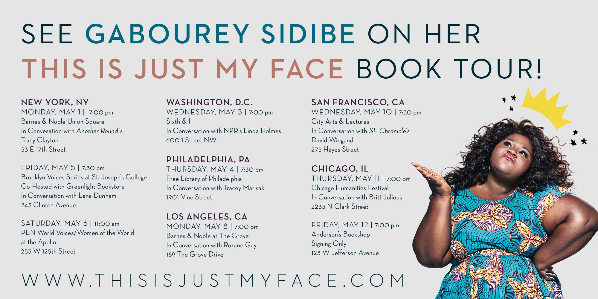 Gabby tour graphic