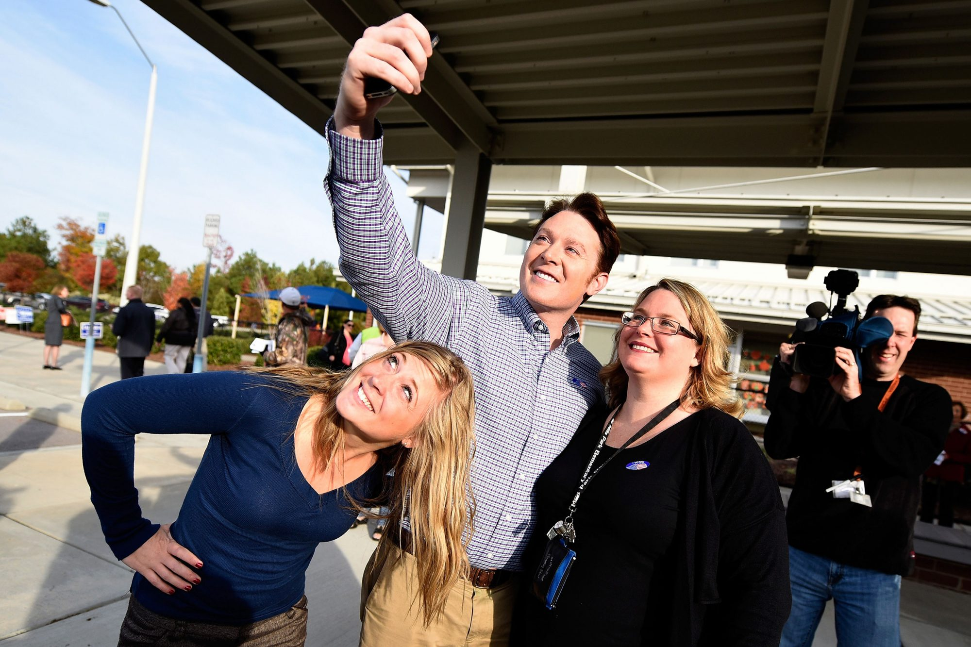 Congressional Candidate Clay Aiken Casts His Vote In The Midterm Elections