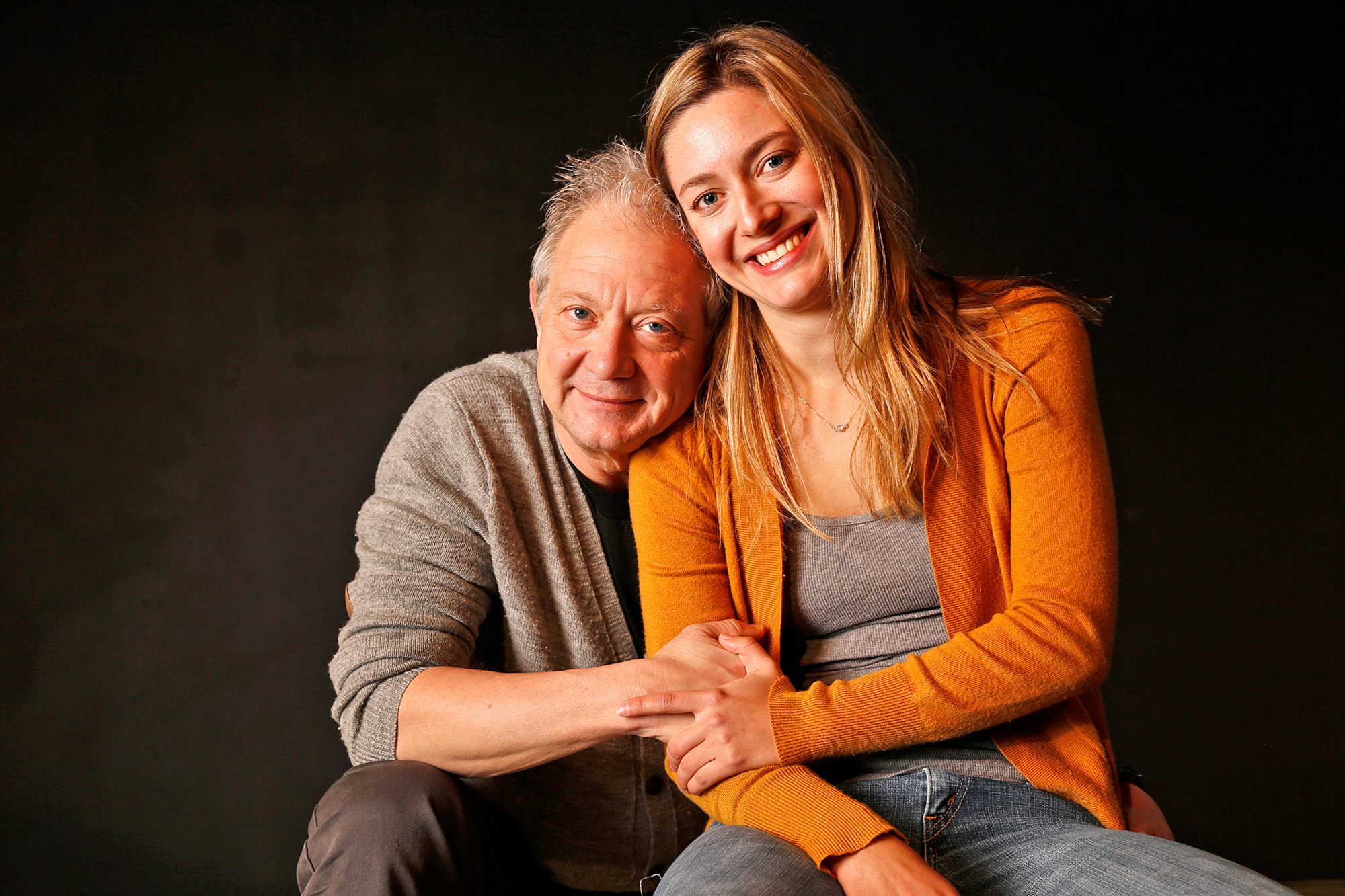 LOS ANGELES, CA  JANUARY 09, 2015 -- Jeff Perry, with daughter Zoe Perry at the Odyssey Theater in W