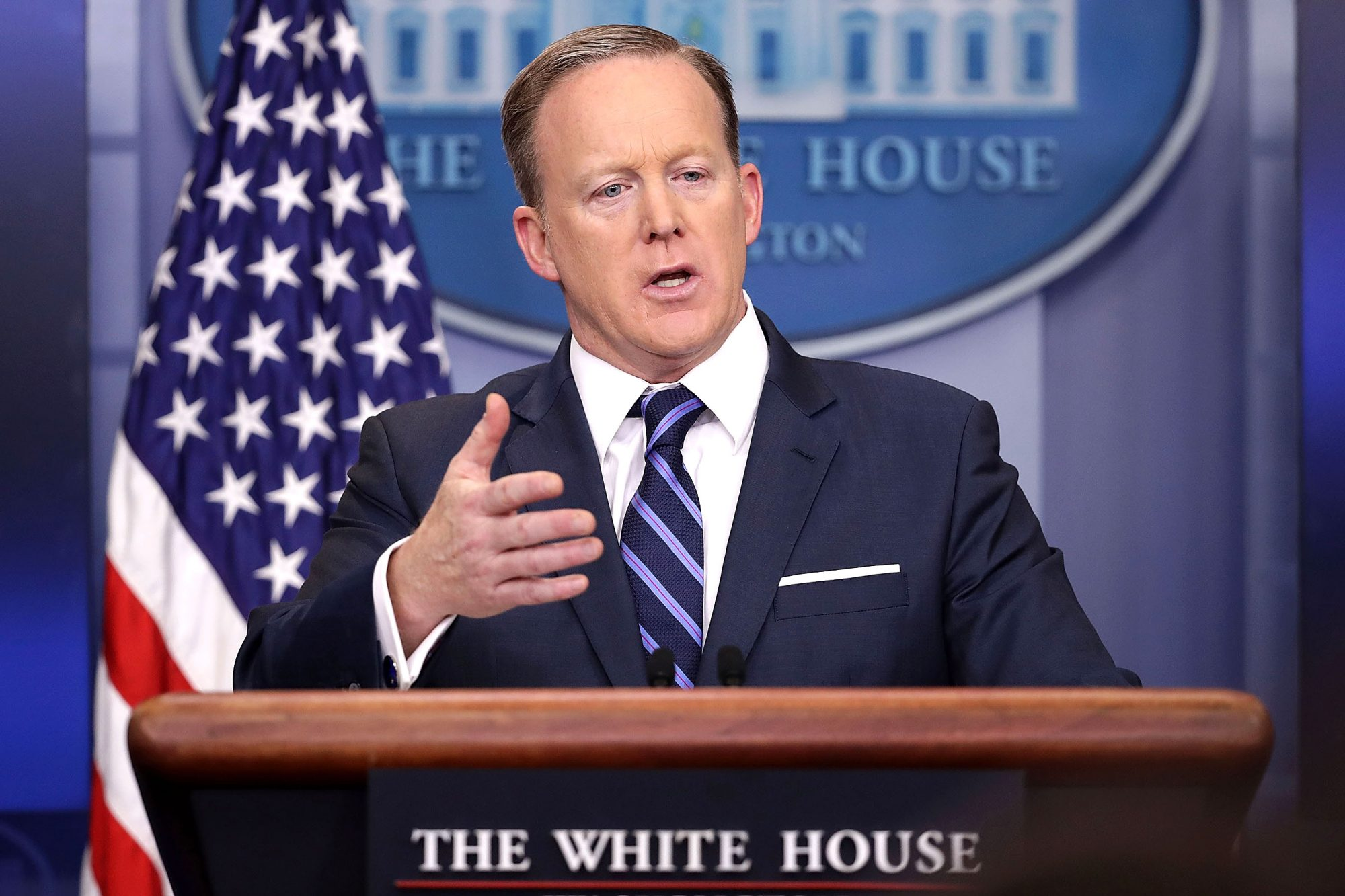 White House Press Secretary Sean Spicer Holds Daily Press Briefing In White House Briefing Room
