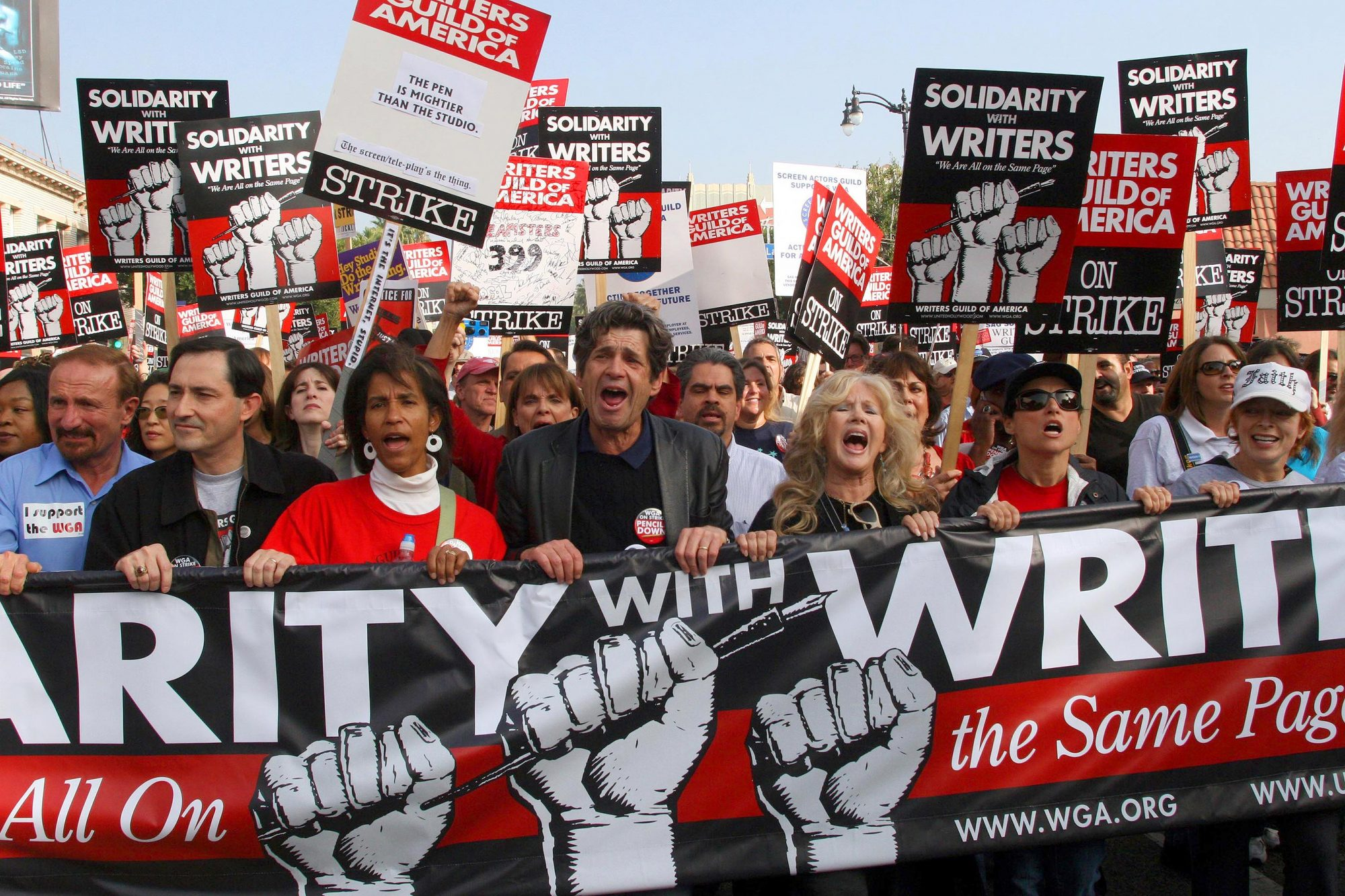 Film and TV Writers Rally for Labor Solidarity in Hollywood