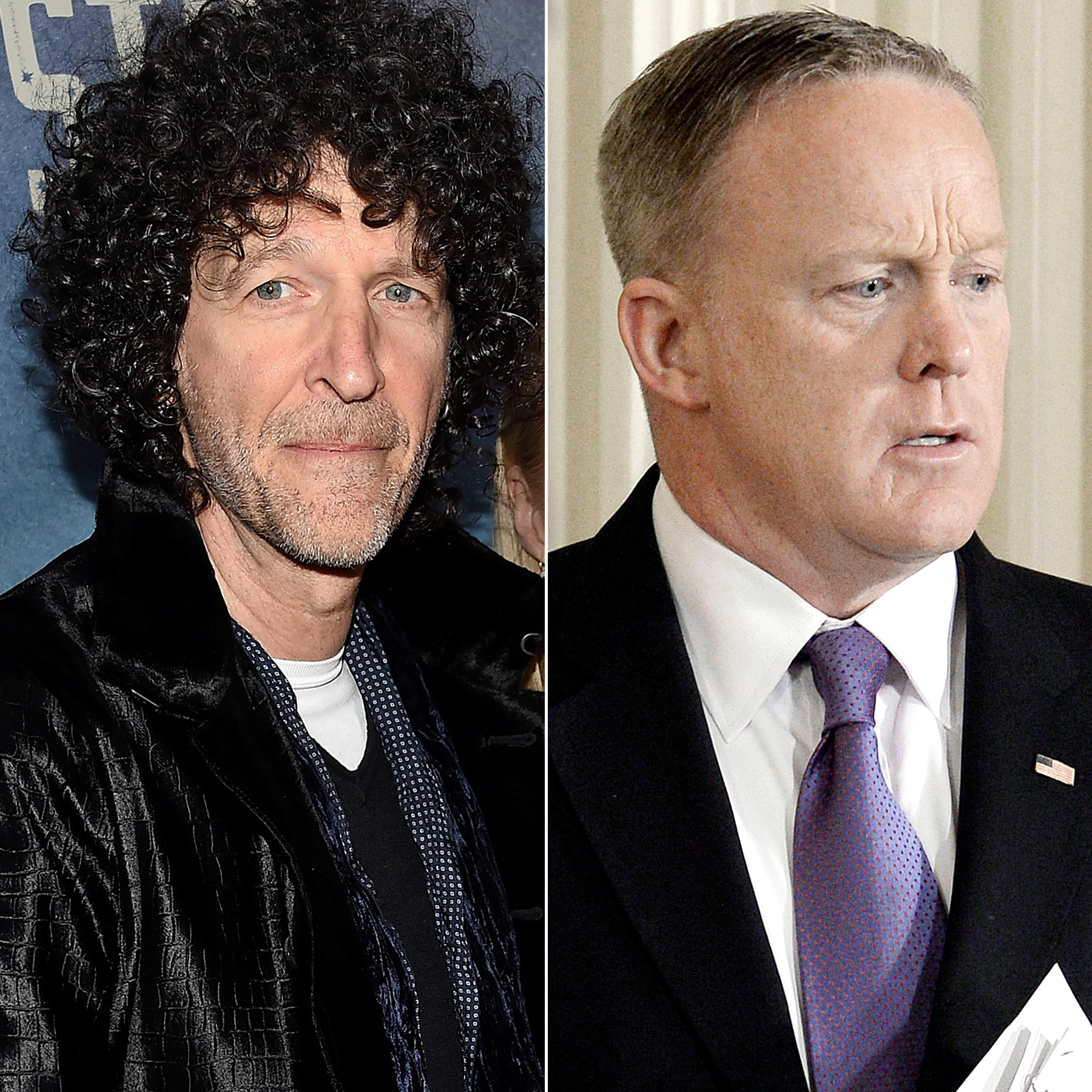 Howard Stern and Sean Spicer