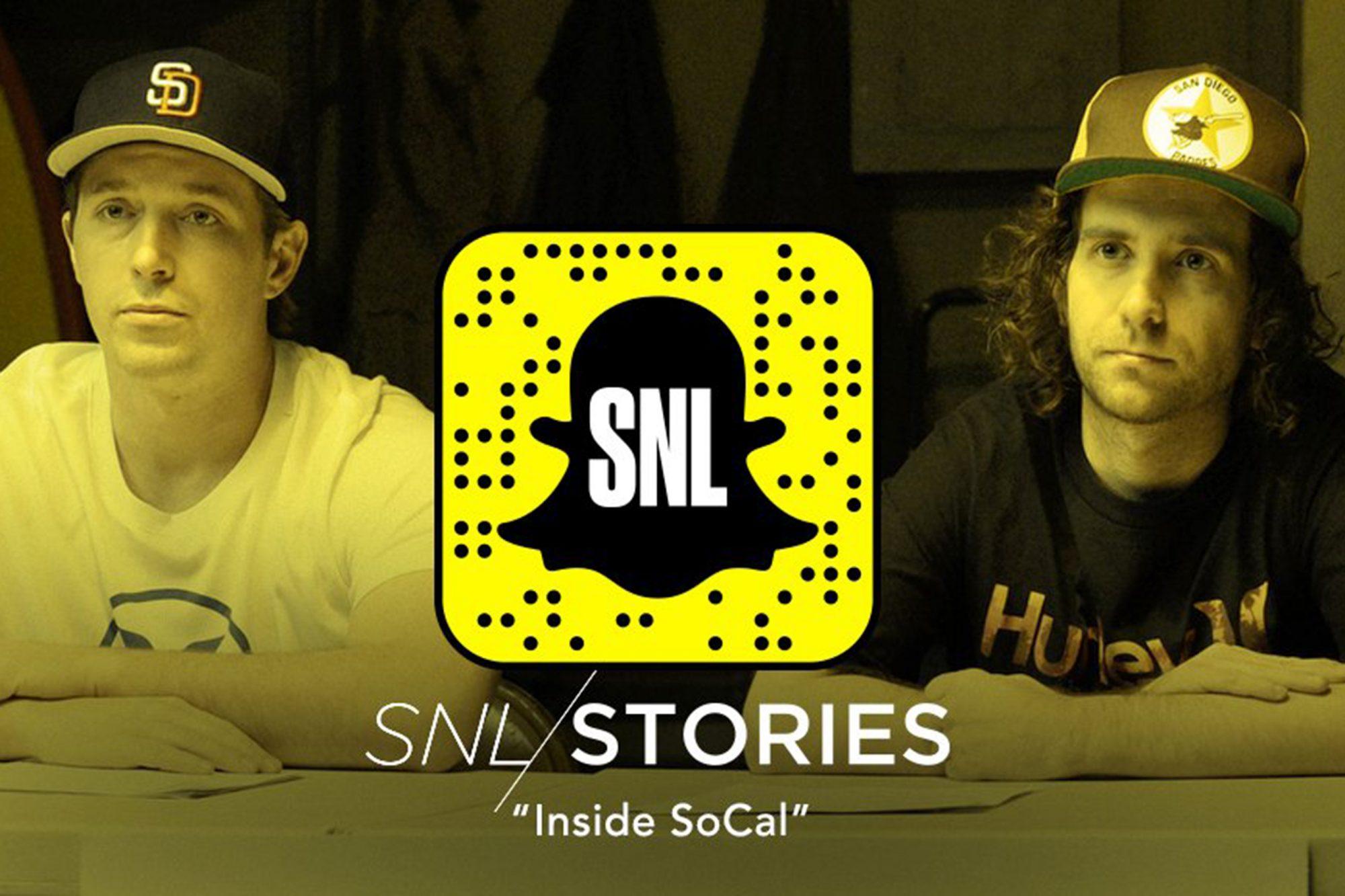 Inside Socal on SNL Snapchat Stories