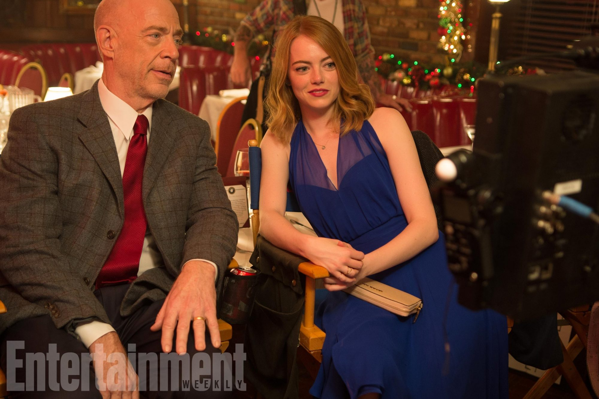 J.K. Simmons and Emma Stone