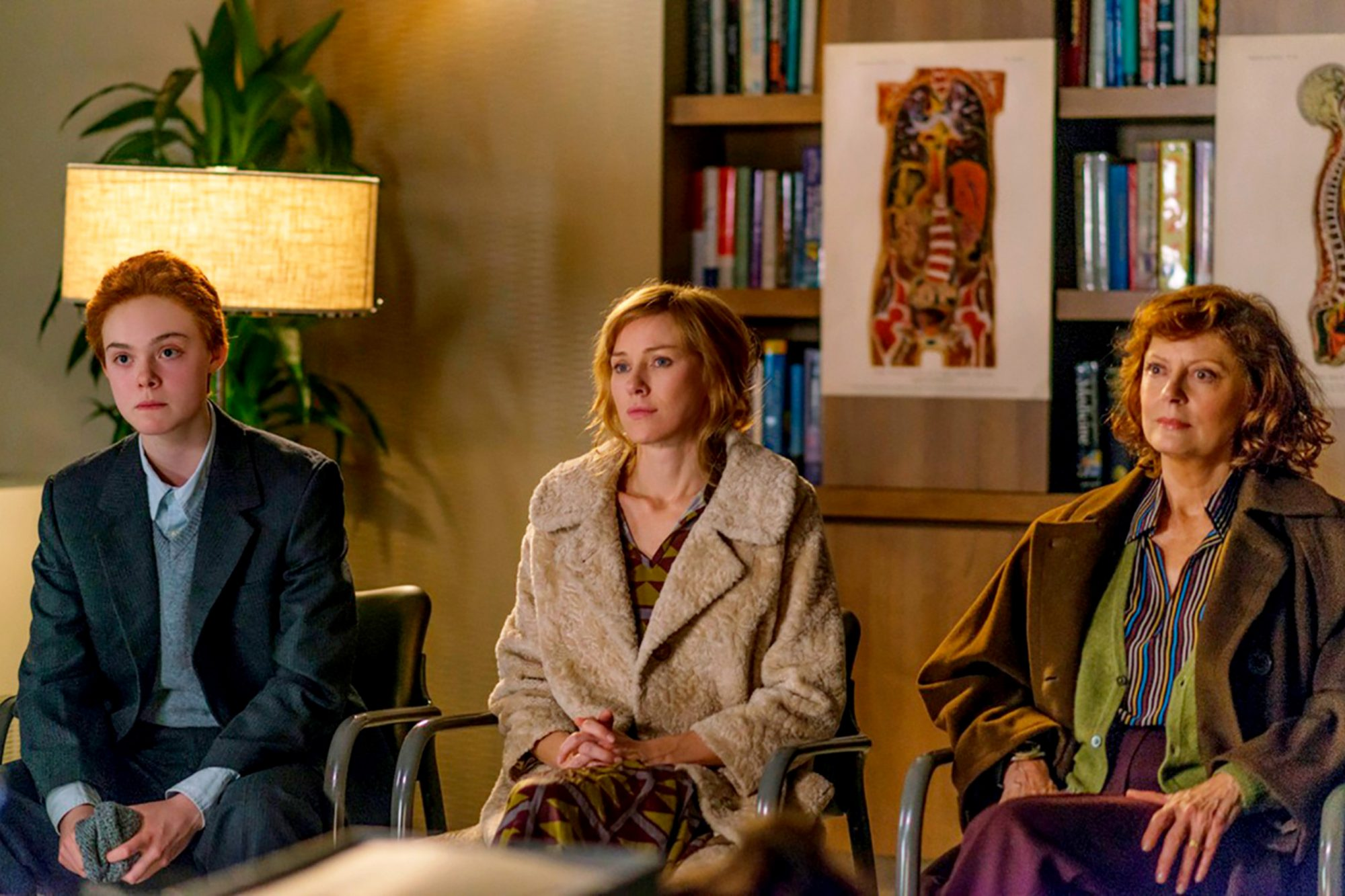 ABOUT RAY, from left: Elle Fanning, Naomi Watts, Susan Sarandon, 2015. ©The Weinstein