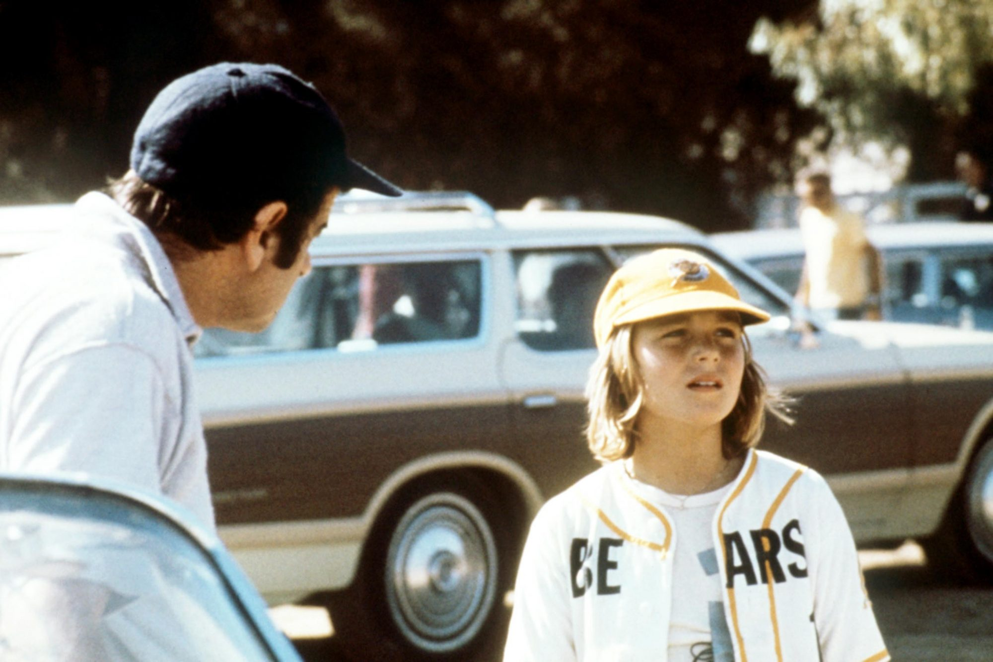 THE BAD NEWS BEARS, Walter Matthau, Tatum O'Neal, 1976.