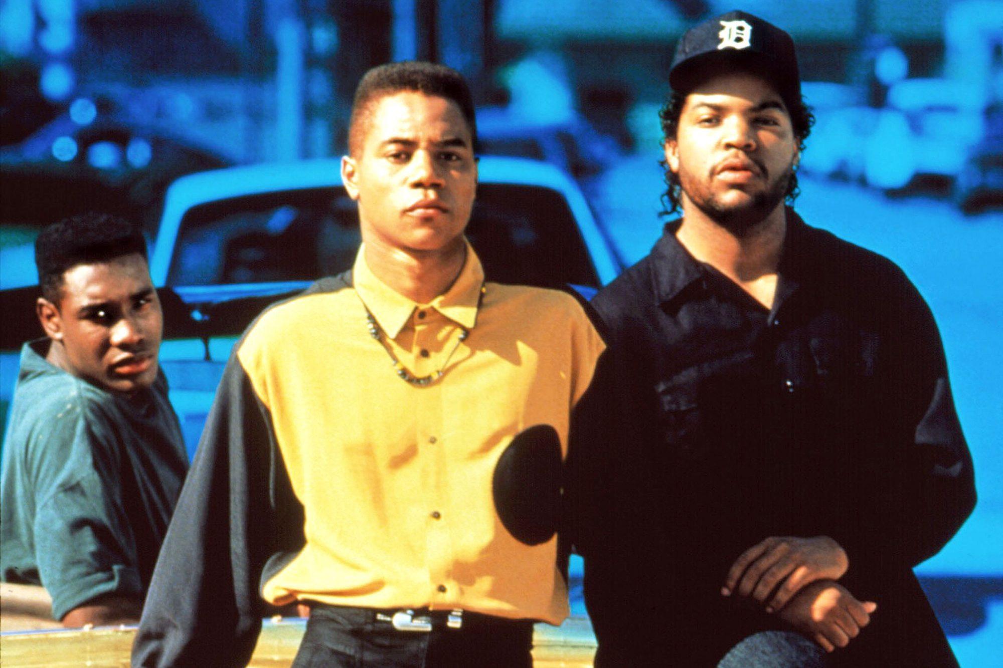 BOYZ N THE HOOD, Morris Chestnut, Cuba Gooding Jr., Ice Cube (aka O'Shea Jackson), 1991