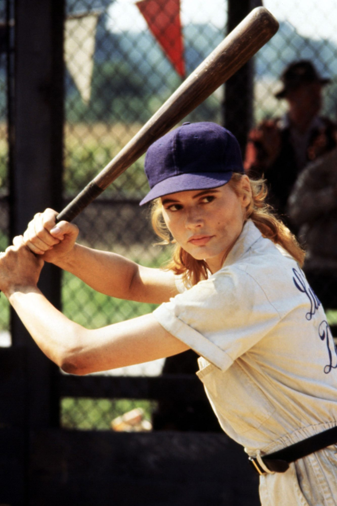 A LEAGUE OF THEIR OWN, Geena Davis, 1992. © Columbia Pictures/ Courtesy: Everett Collection.