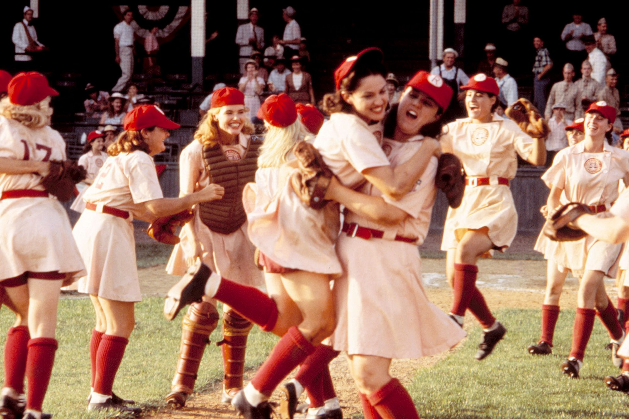 A LEAGUE OF THEIR OWN, Geena Davis, Madonna, Rosie O'Donnell, 1992. © Columbia Pictures/Courtesy Eve