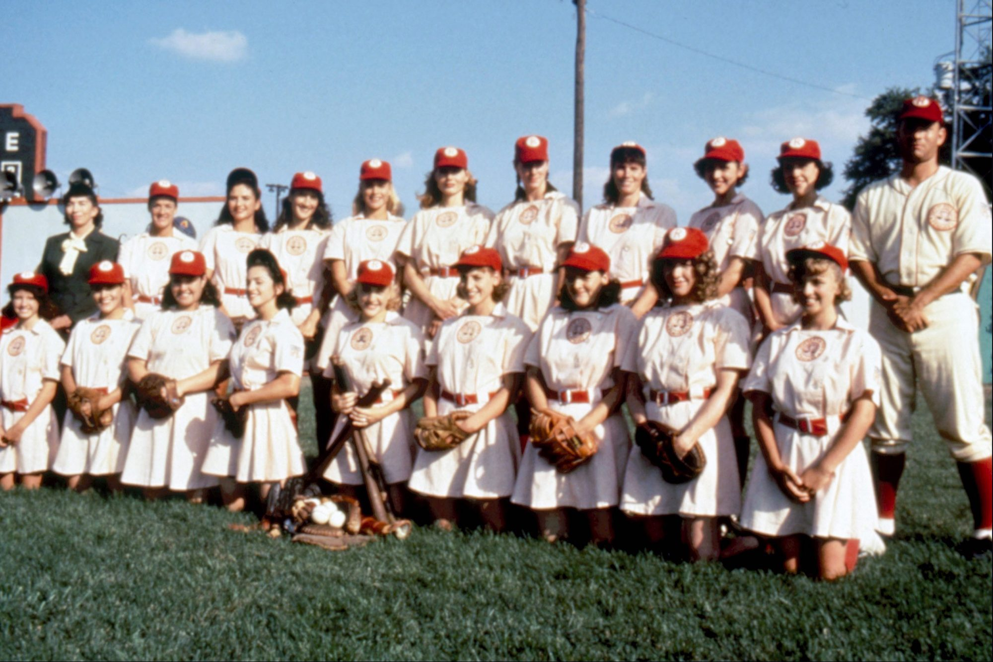 A LEAGUE OF THEIR OWN, top: Pauline Brailsford (left), Anne Elizabeth Ramsey (fourth from left), Fre