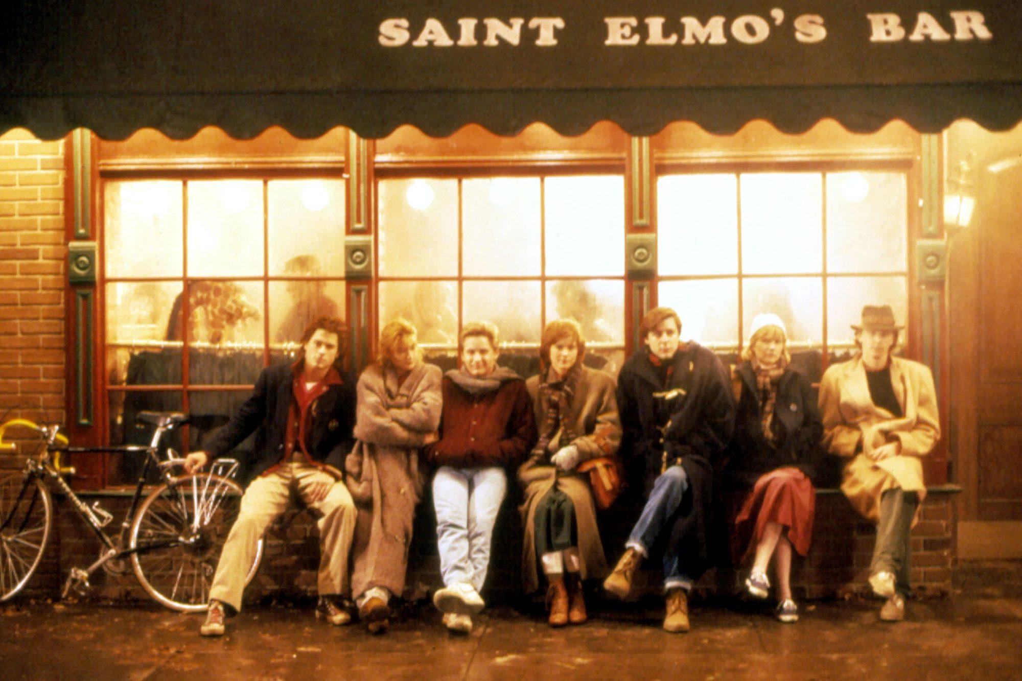 ST. ELMO'S FIRE, Rob Lowe, Demi Moore, Emilio Estevez, Ally Sheedy, Judd Nelson, Mare Winningham, An