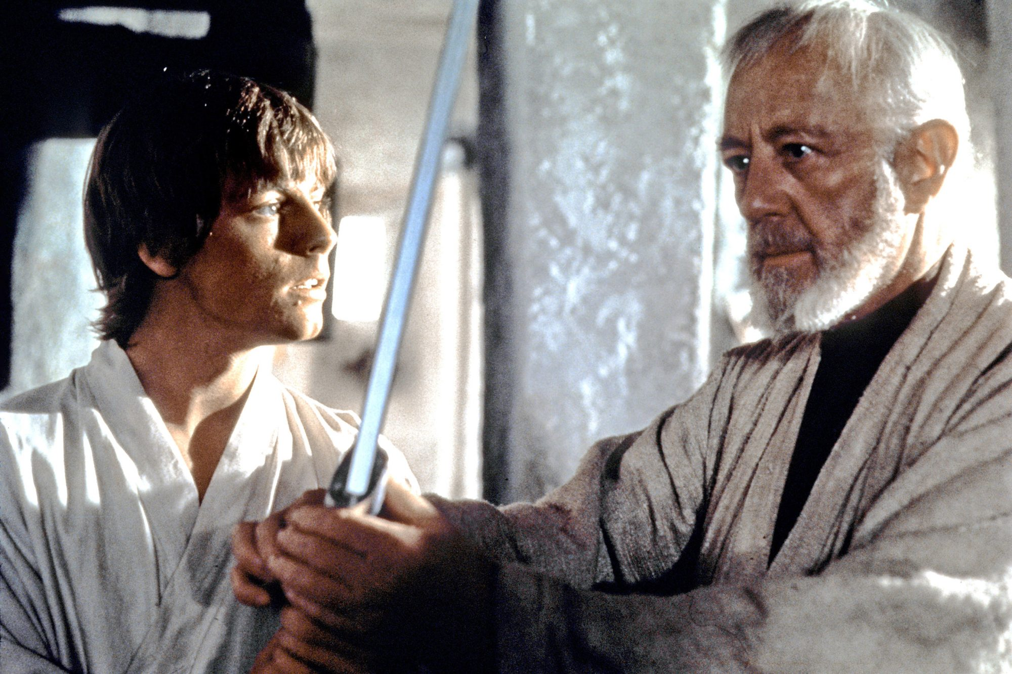 Star Wars: Episode IV - A New HopeMark Hamill (L) and Alec Guinness