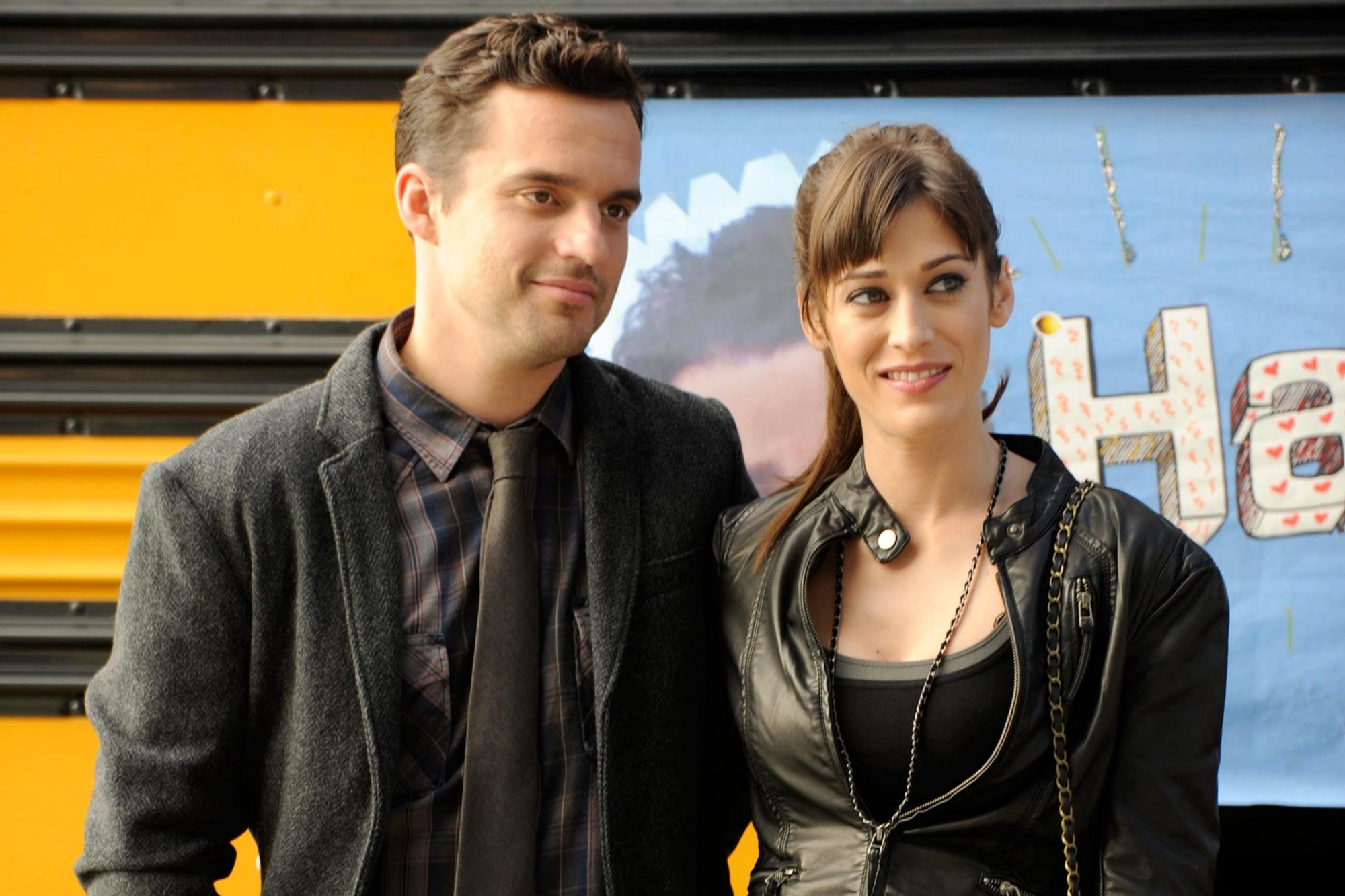 NEW GIRL, (from left): Jake Johnson, Lizzy Caplan, 'The Story of 50', (Season 1, ep. 110, aired Jan.