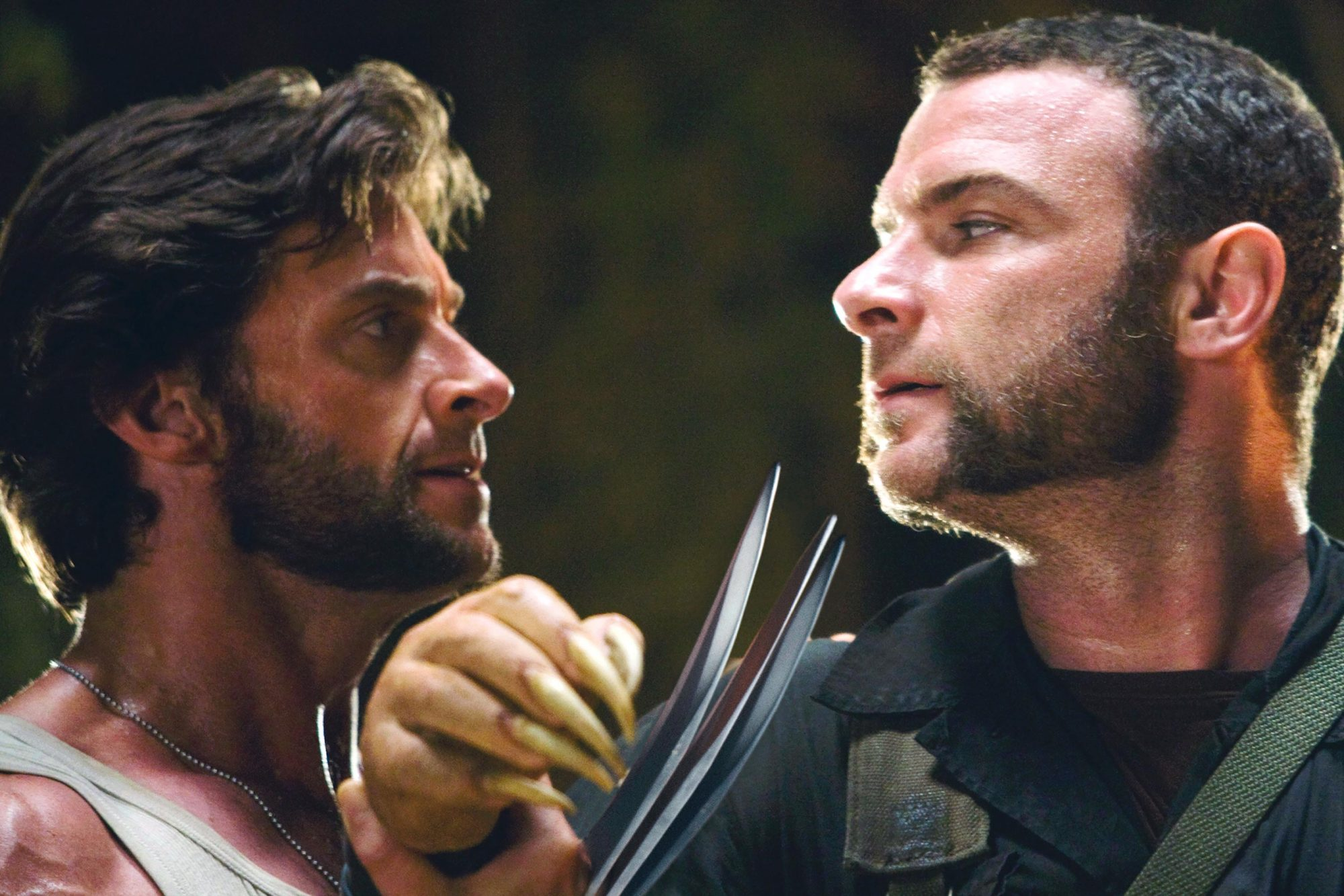 X-MEN Origins: Wolverine (2009)Hugh Jackman (L) and Liev Schreiber
