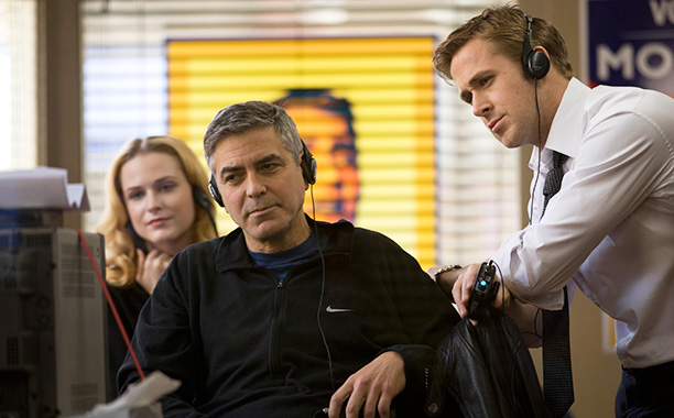 'Ides of March'- Clooney wets Gosling's pants with spray bottle