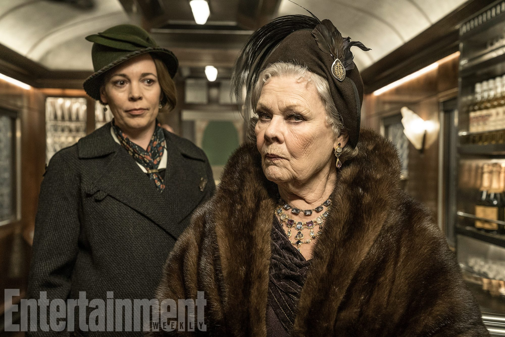 Olivia Colman as Hildegarde Schmidt and Judi Dench as Princess Dragomiroff