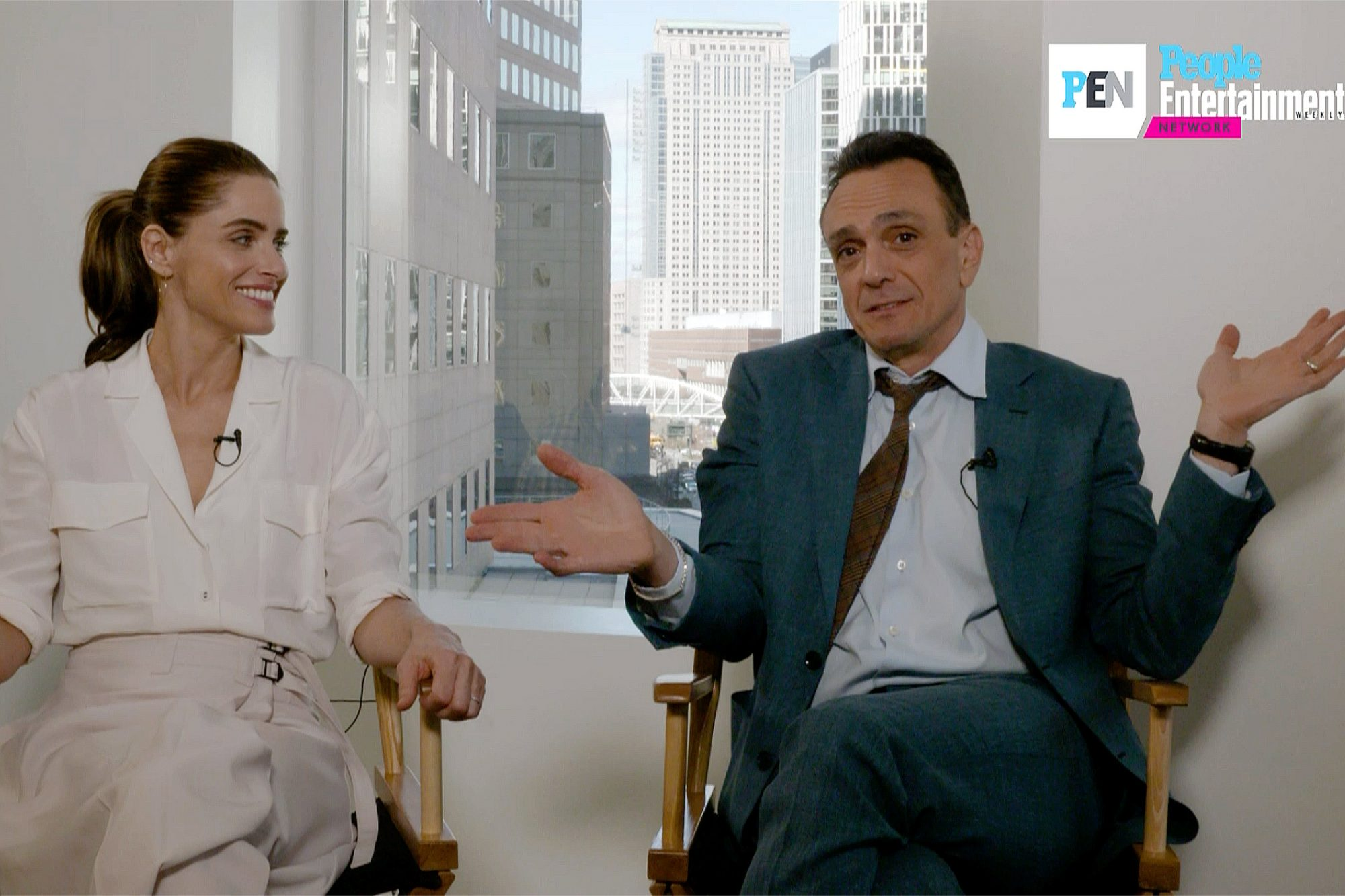 Amanda Peet and Hank Azaria