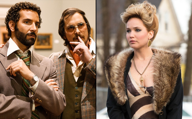 'American Hustle' - Christian Bale and Bradley Cooper put a Jennifer Lawrence tombstone in a graveyard to freak her out.