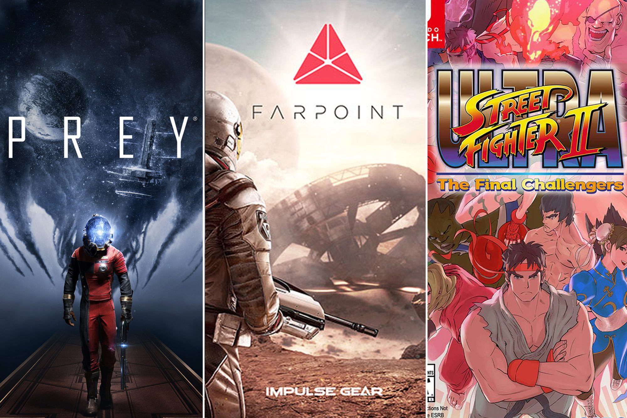 Prey, Farpoint and Ultra Street Fighter 2