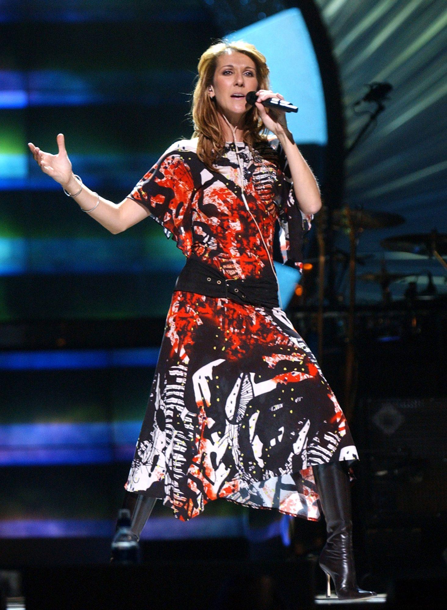 Celine Dion VH1 Divas rehearsal