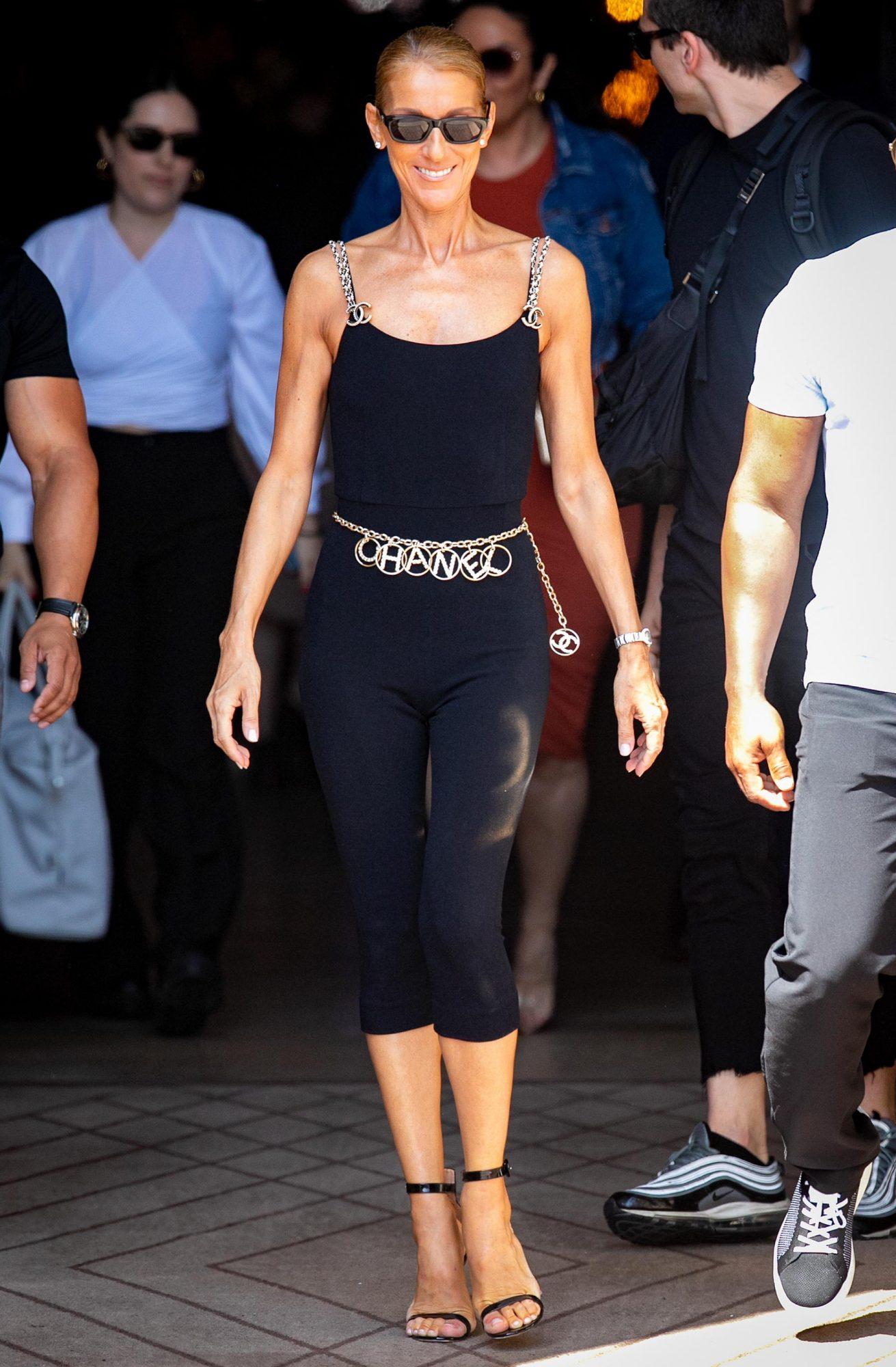 PARIS, FRANCE - JUNE 27: Singer Celine Dion is seen on June 27, 2019 in Paris, France. (Photo by Marc Piasecki/GC Images)