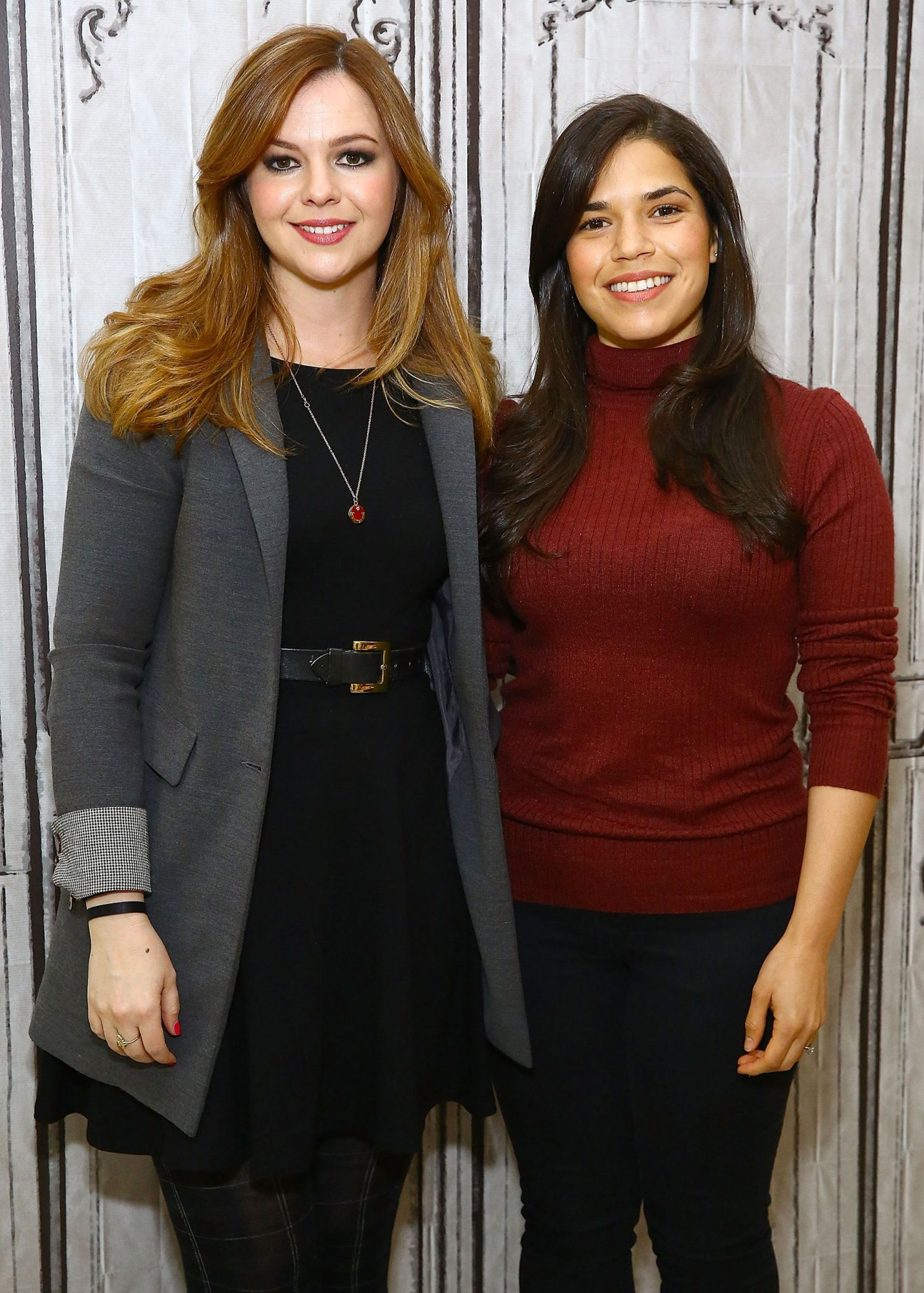"Amber Tamblyn And America Ferrera Promote New Book ""Dark Sparkler"" At AOL Build"