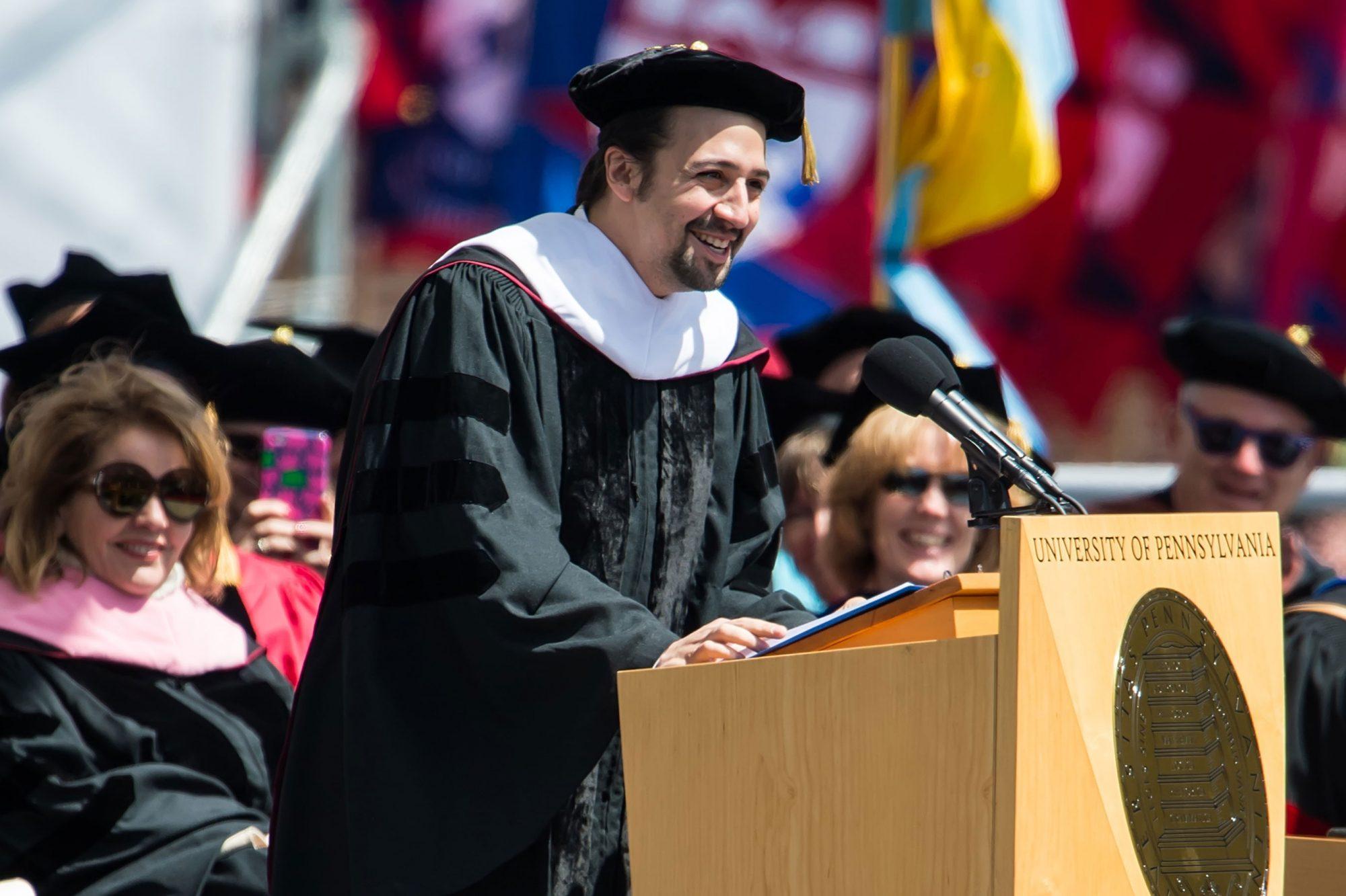 Lin Manuel Miranda Delivers University Of Pennsylvania Commencement Keynote Address