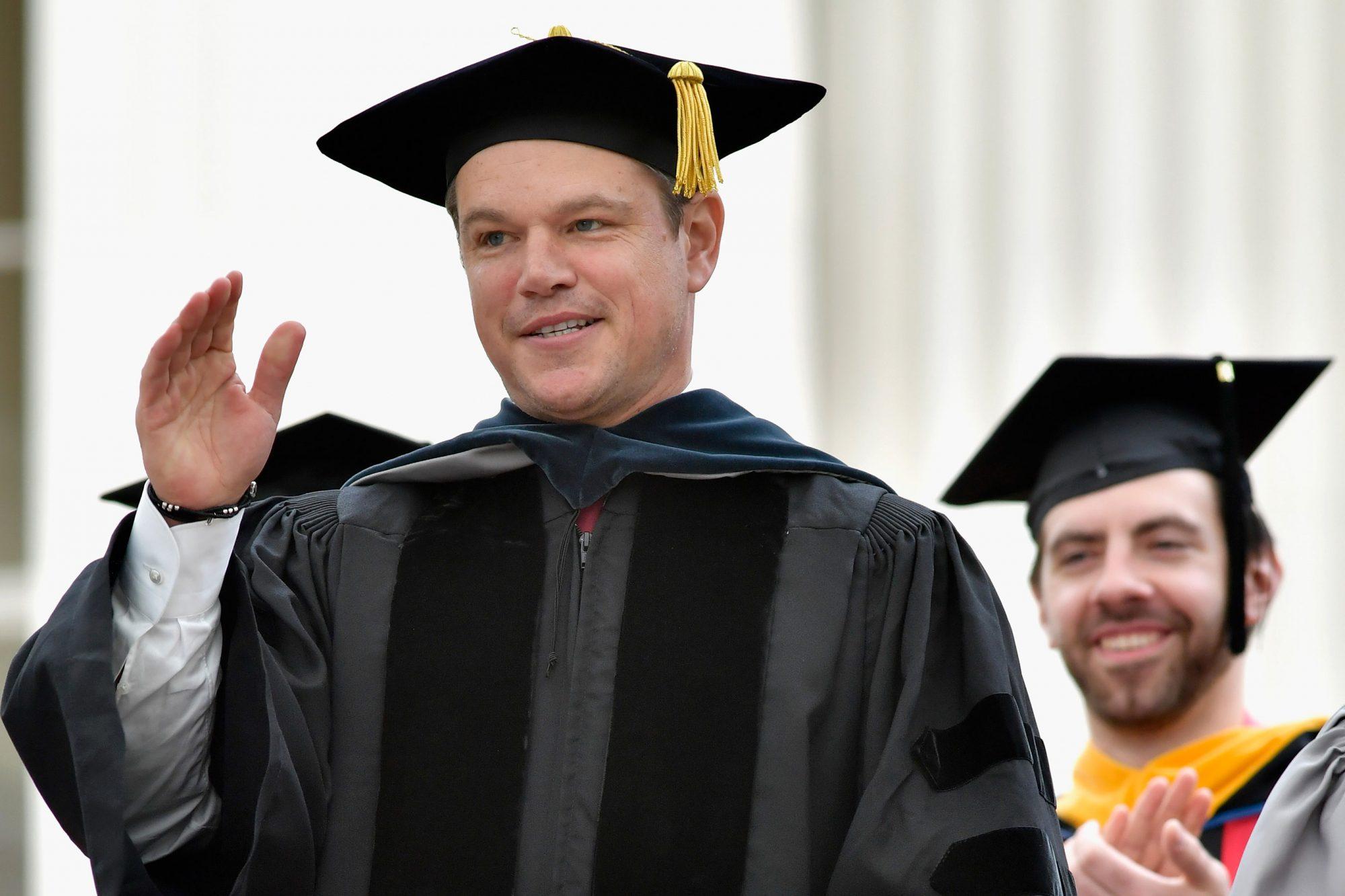 Matt Damon Speaks at MIT 2016 Commencement Day