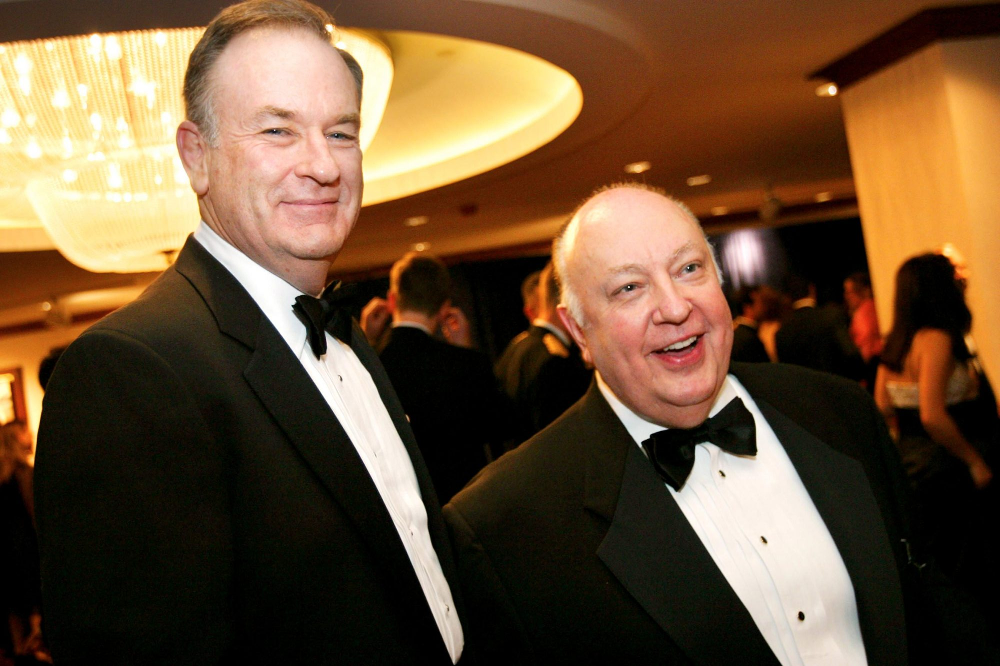 Bill O'Reilly, tv columnist, at left, shown here with Roger Ail
