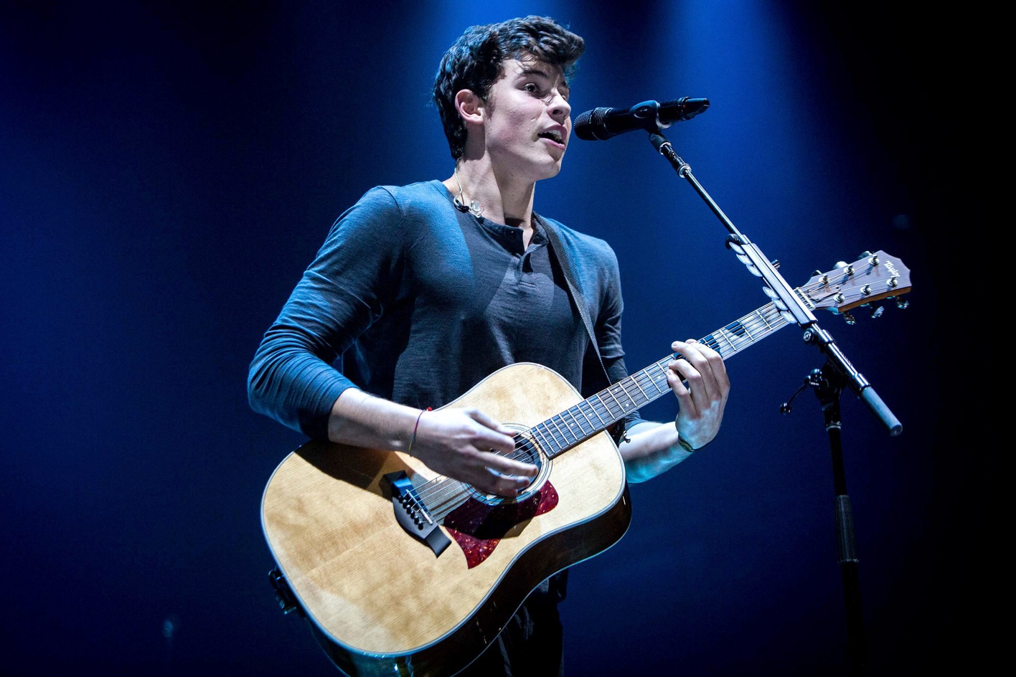 The Canadian singer and song-writer Shawn Mendes pictured on