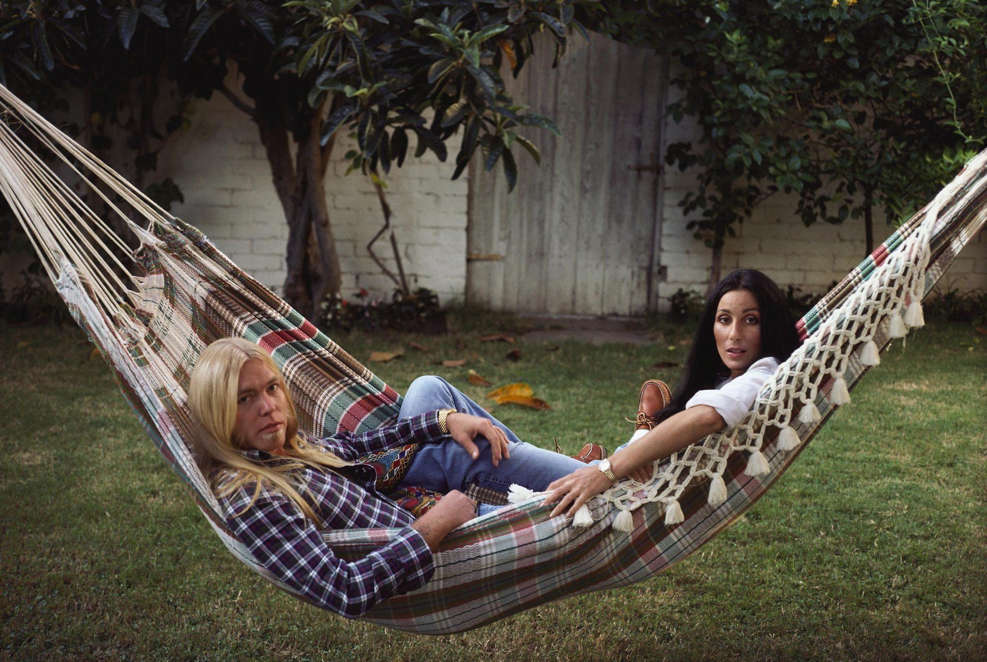 1977, Beverly Hills, Cher with Gregg Allman