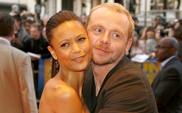 'Run, Fatboy, Run' - Thandie Newton covers Simon Pegg's toilet with plastic wrap and puts vodka in his water bottles