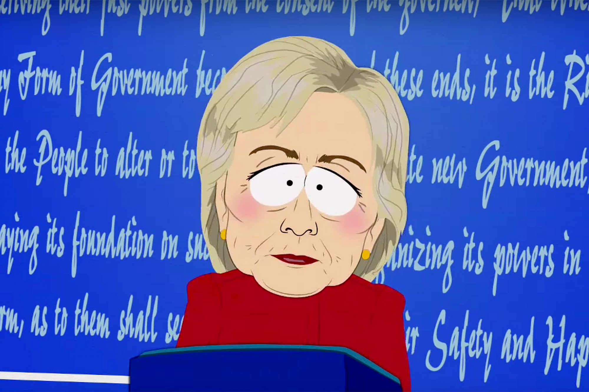 Hillary Clinton on South Park