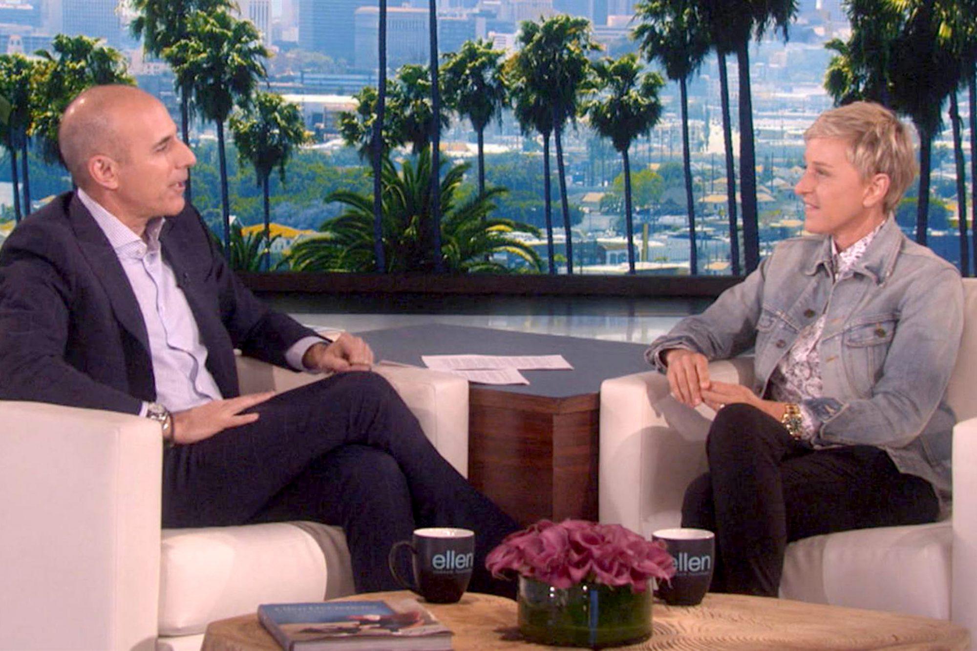 Matt Lauer and Ellen