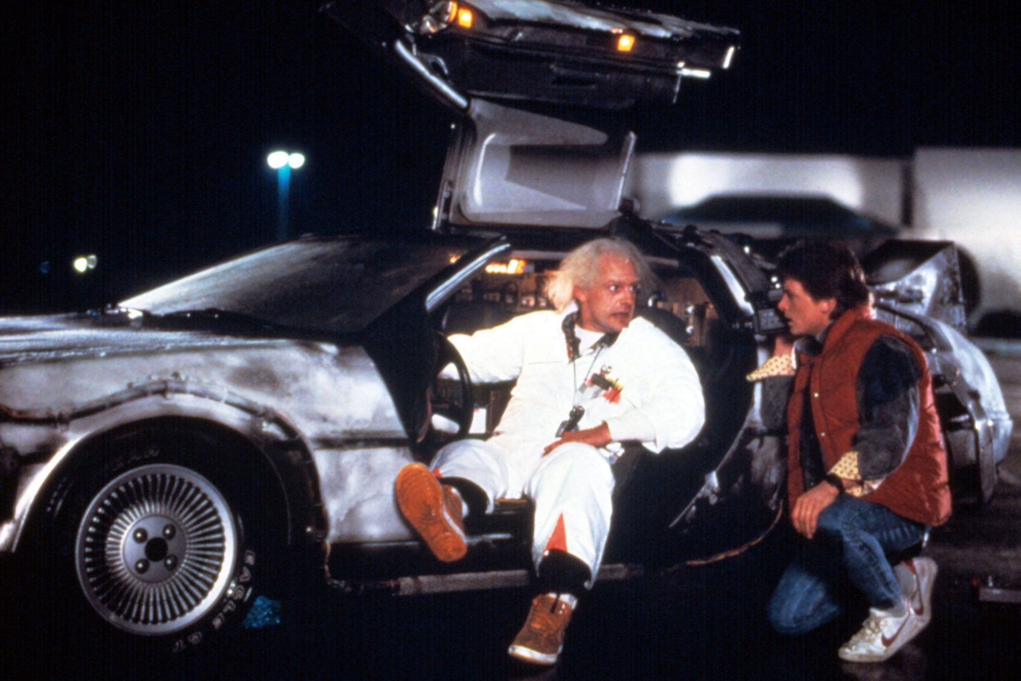 BACK TO THE FUTURE, Christopher Lloyd, Michael J. Fox, 1985. (c) MCA/Universal Pictures/ Courtesy: E