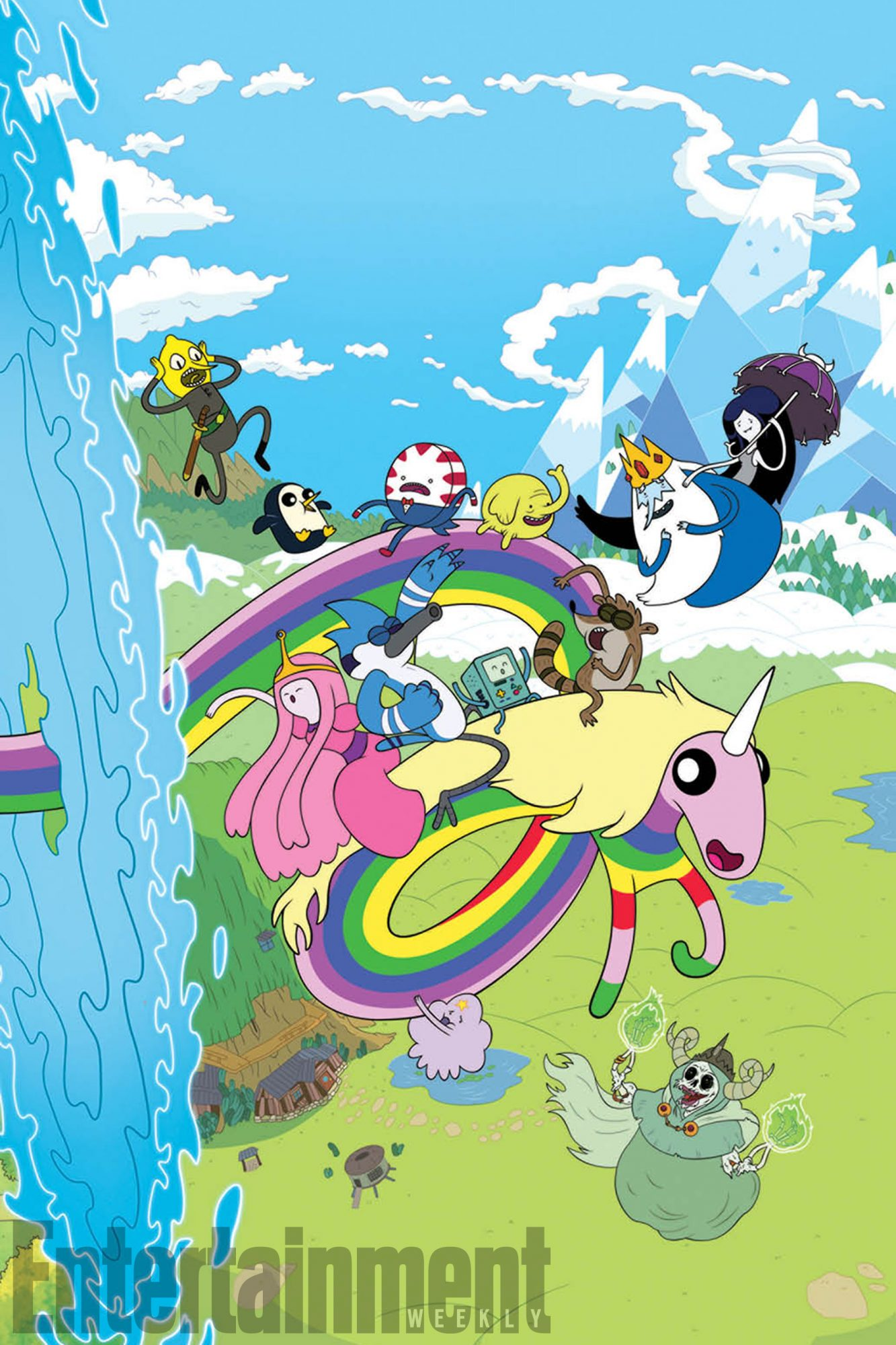 Regular Show and Adventure Time Comic Book