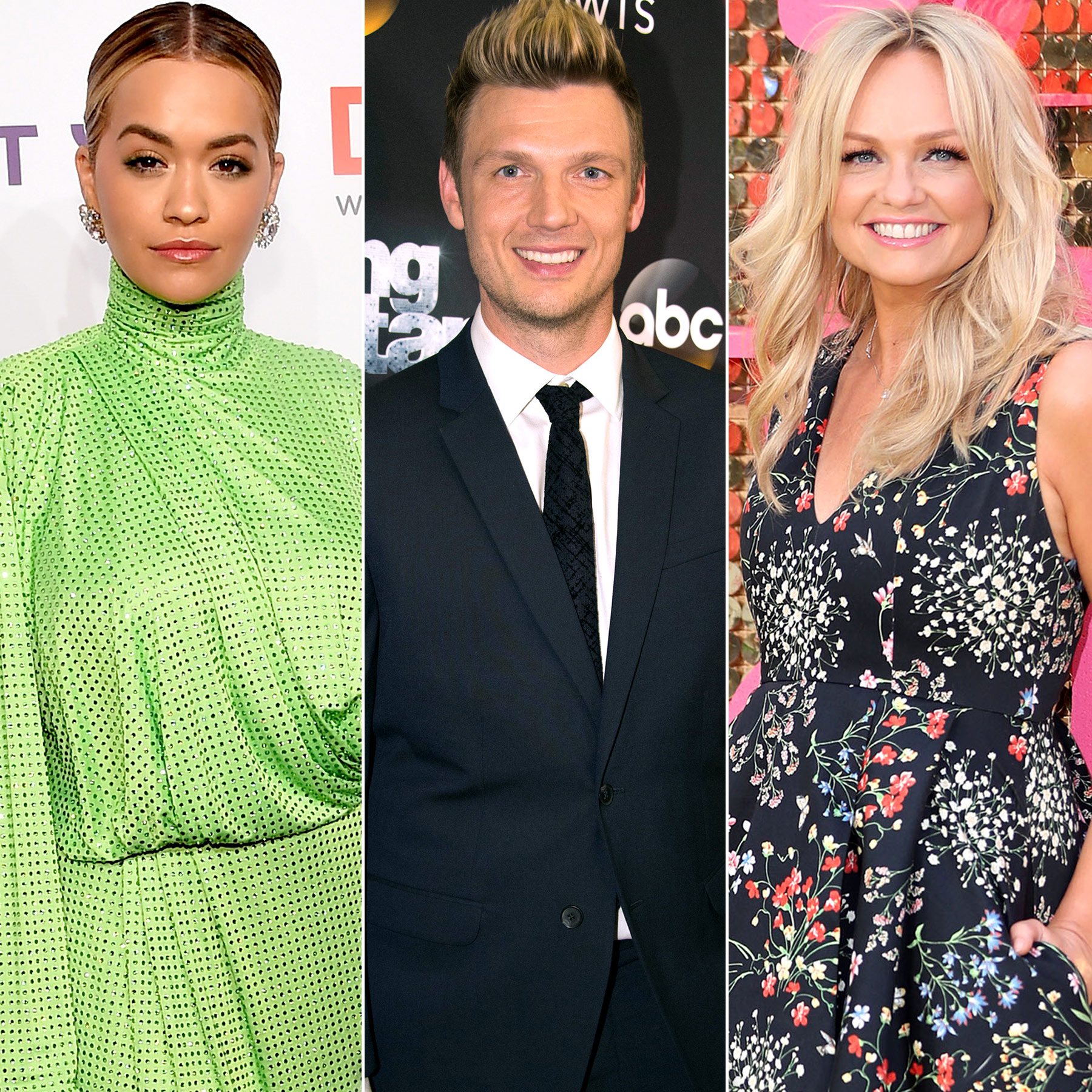 Rita Ora, Nick Carter and Emma Bunton
