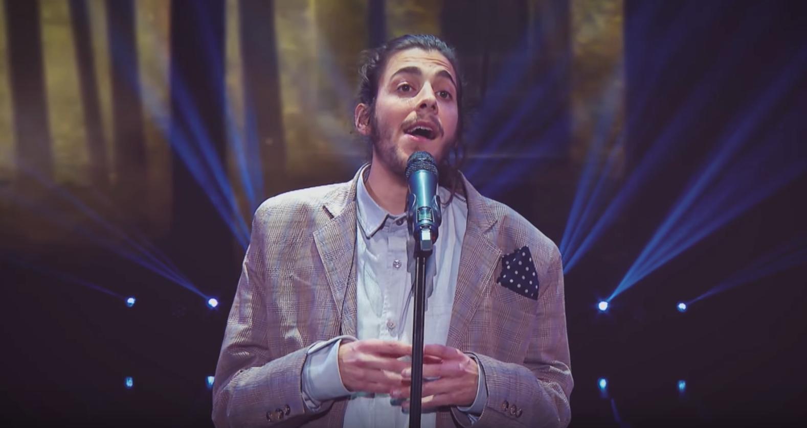 Eurovision 2017 - Portugal's Salvador Sobral performs screen grab