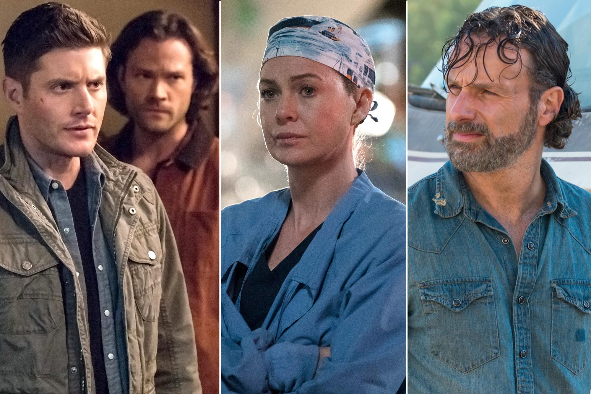 Supernatural, Grey's Anatomy and The Walking Dead