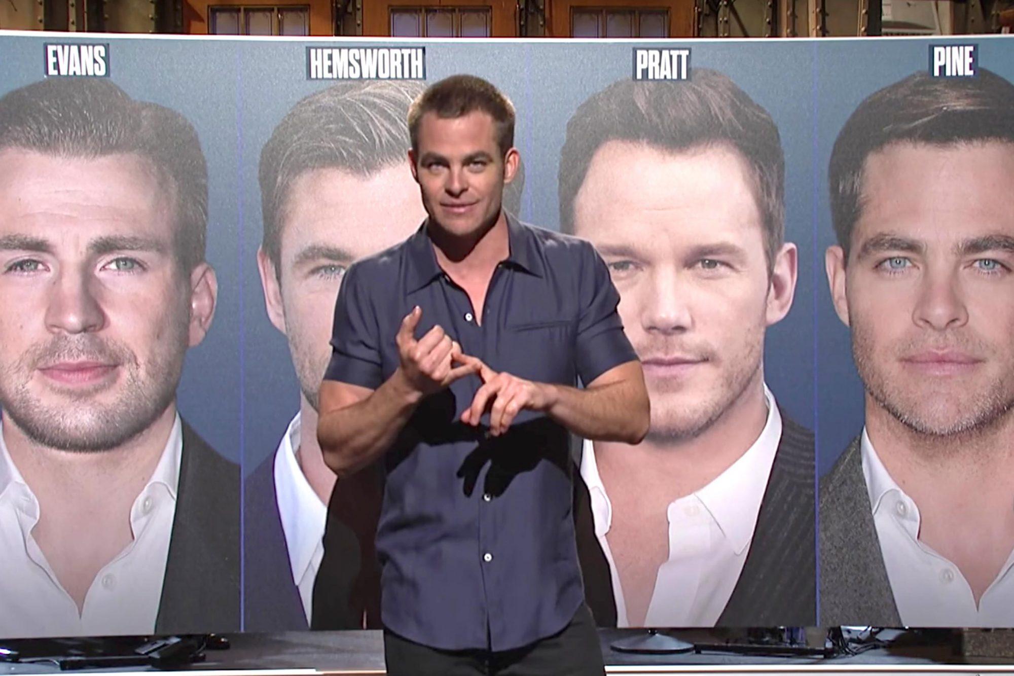 SNL 05/06/17 - Chris Pine (screen grab) CR: NBC