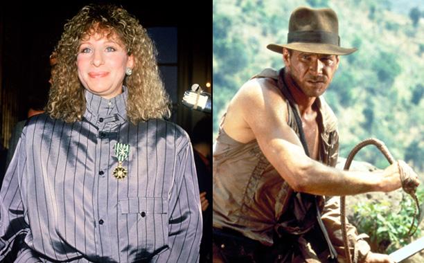 'Indiana Jones and the Temple of Doom' -Steven Spielberg has Barbra Streisand flog Harrison Ford