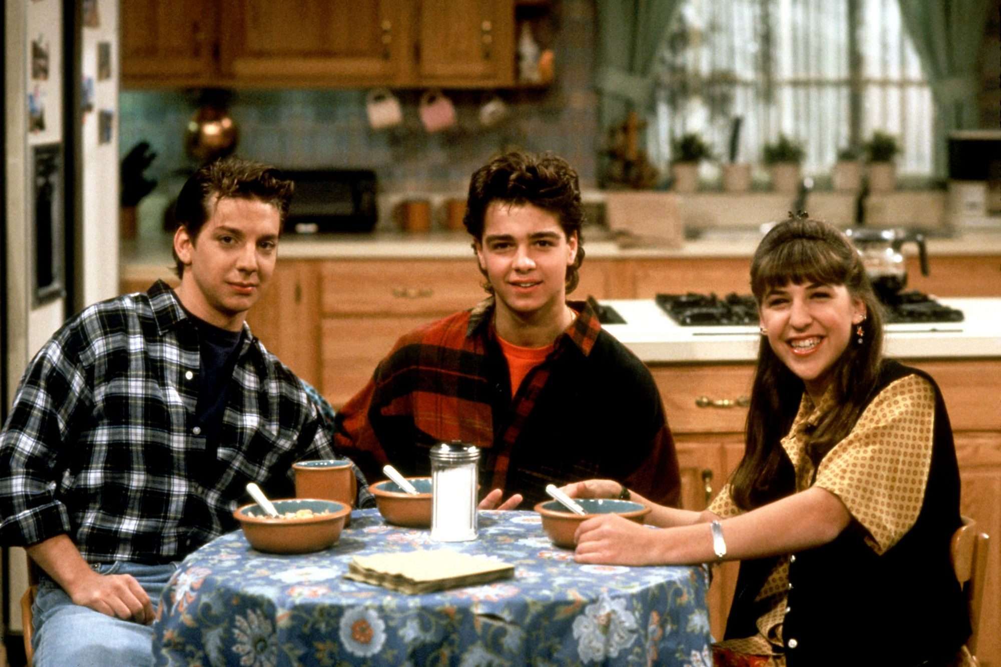 BLOSSOM, Michael Stoyanov, Joey Lawrence, Mayim Bialik, 1991-95, © Touchstone Television / courtesy